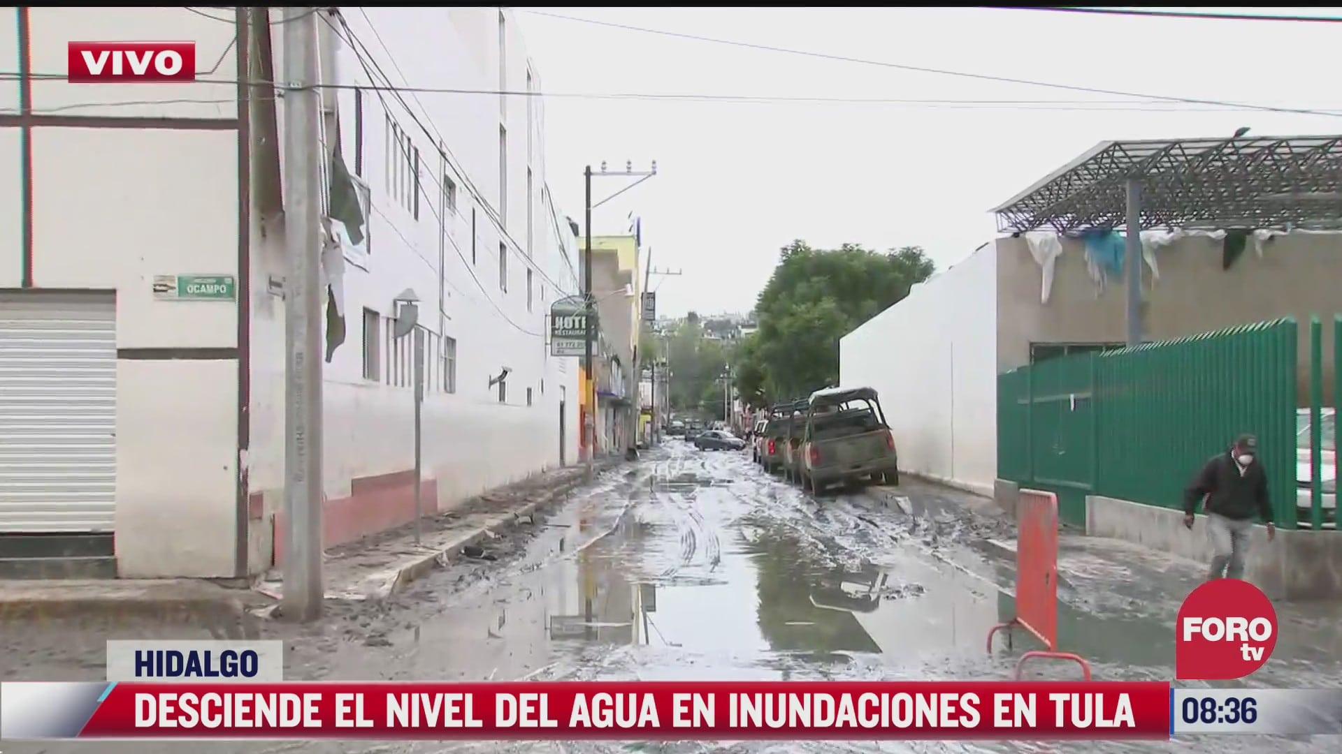desciende nivel de agua en hospital del imss inundado en tula hidalgo