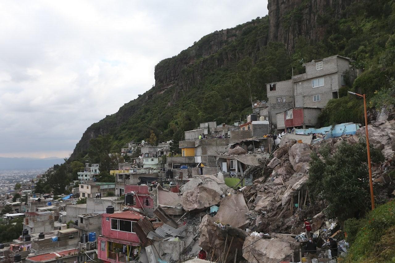 Desgajamiento del cerro Chiquihuite en Tlalnepantla, crónica de una tragedia