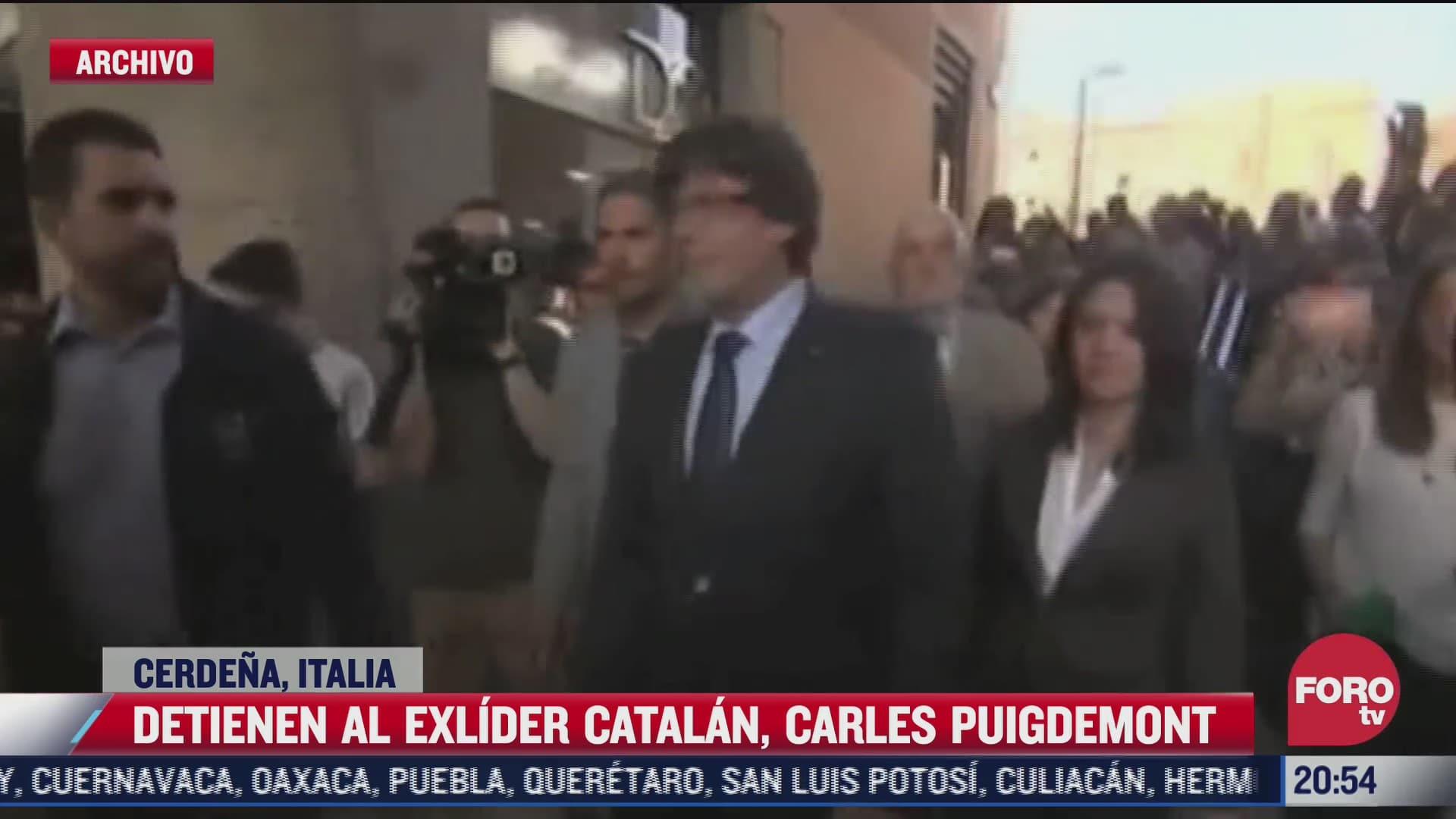 detienen en italia al expresidente catalan carles puigdemont