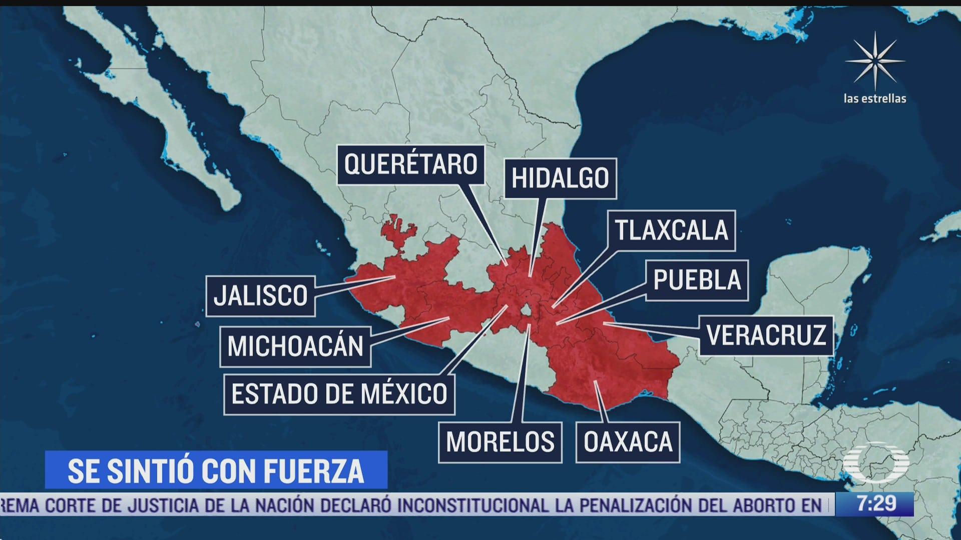 donde se sintio el sismo de magnitud 7 1 con epicentro en acapulco guerrero