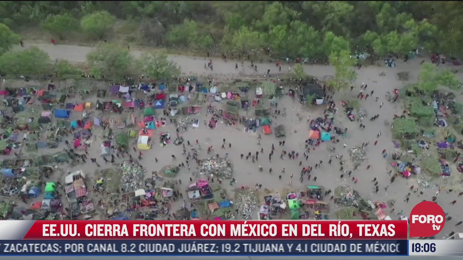 eeuu cierra frontera con mexico por migrantes haitianos