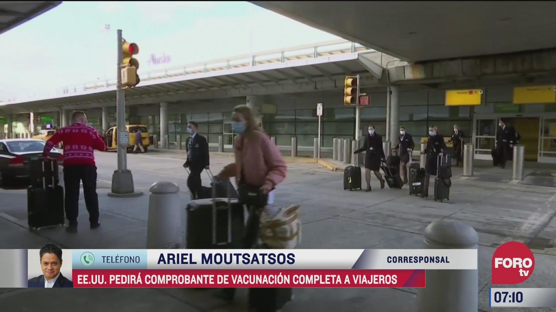 eeuu pedira comprobante de vacunacion covid a viajeros