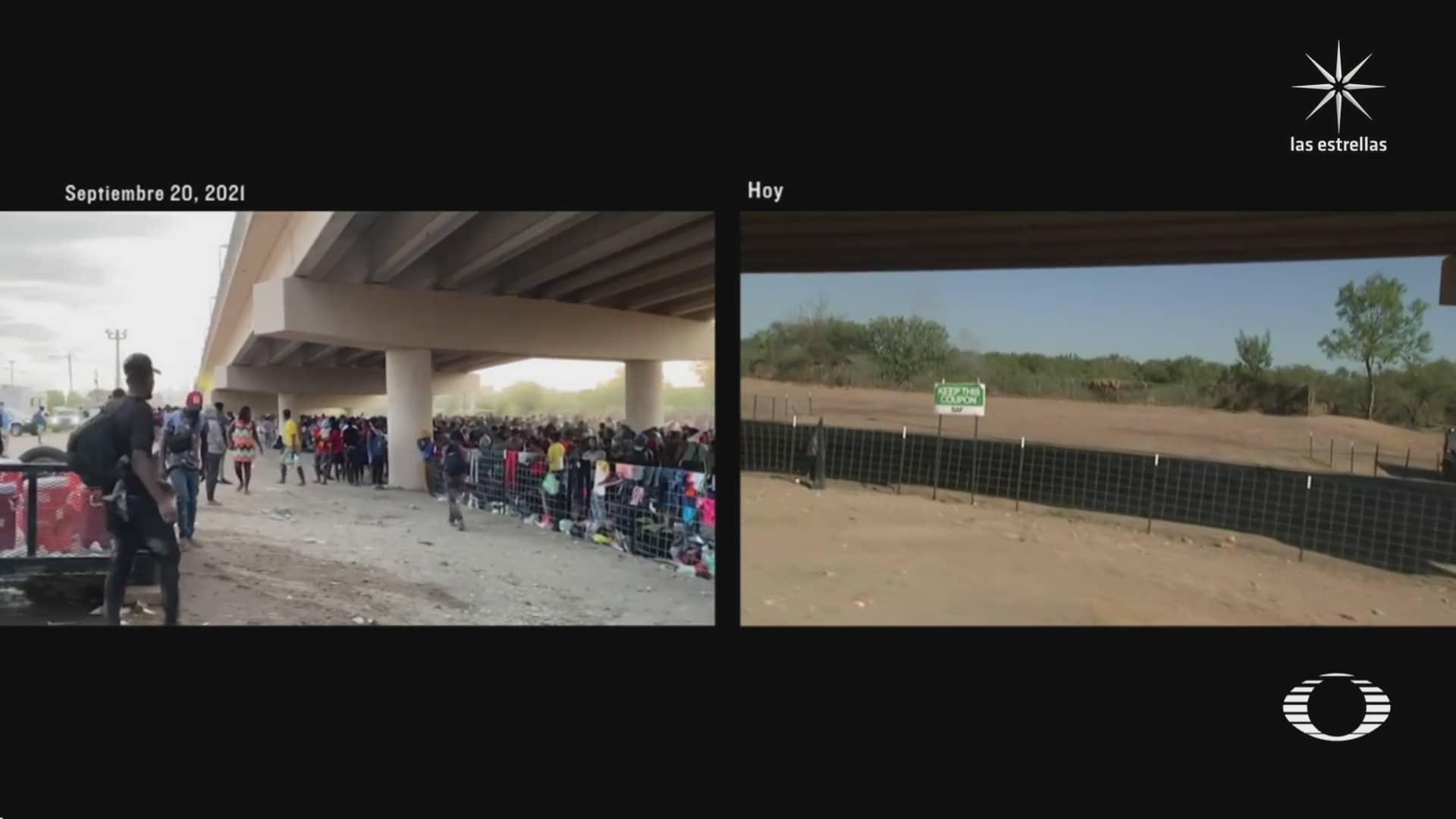 el antes y despues de la llegada de migrantes haitianos a texas