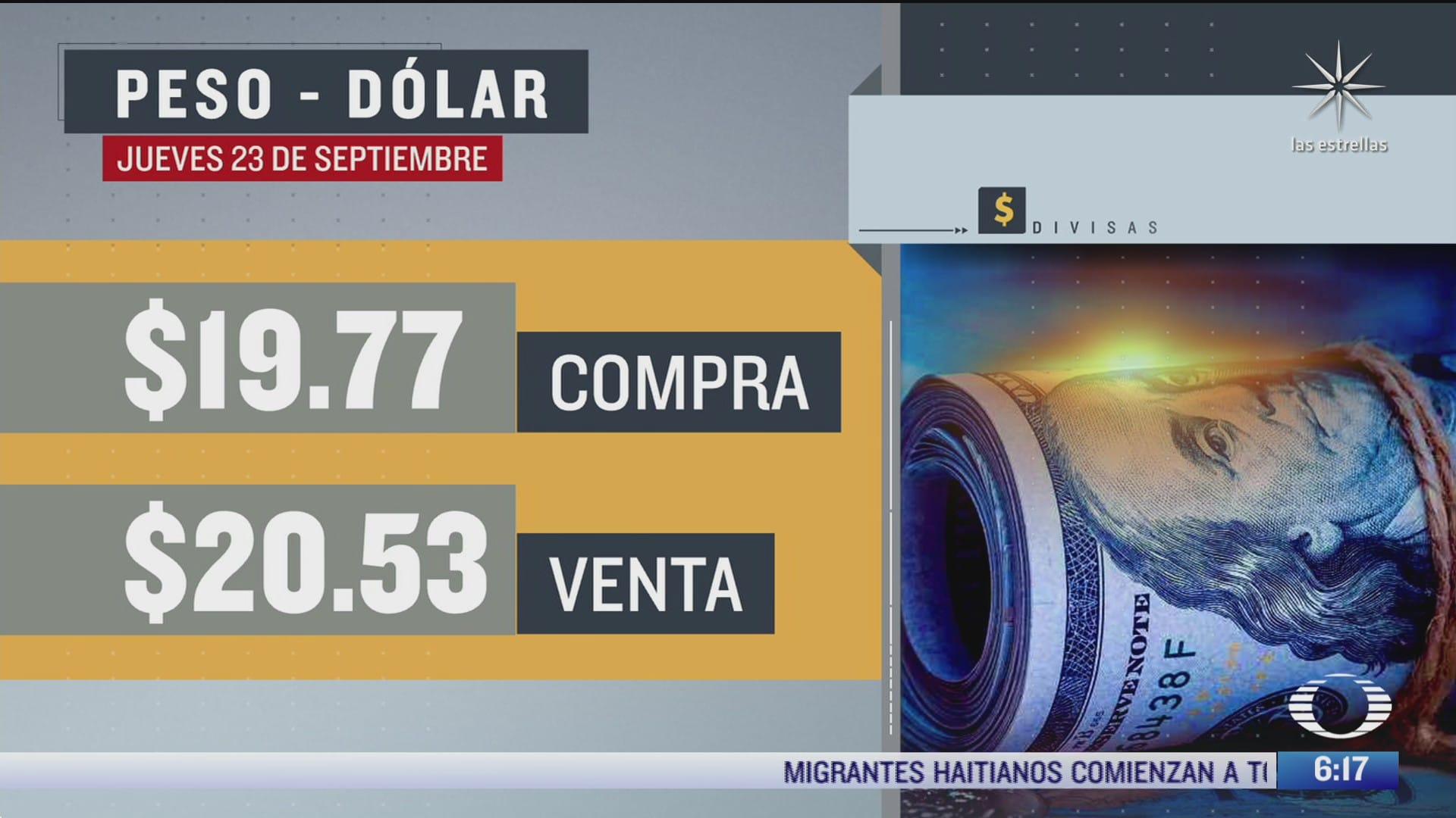 el dolar se vendio en 20 53 en la cdmx 23 septiembre