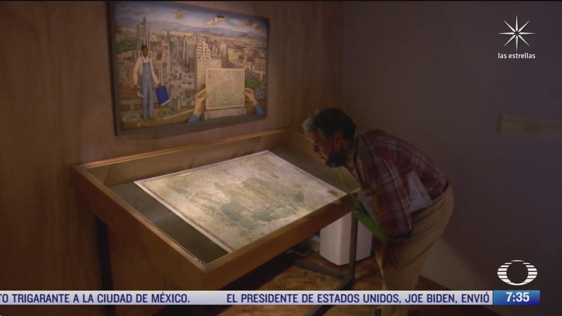 el mapa de uppsala entre las piezas de la exposicion la grandeza de mexico