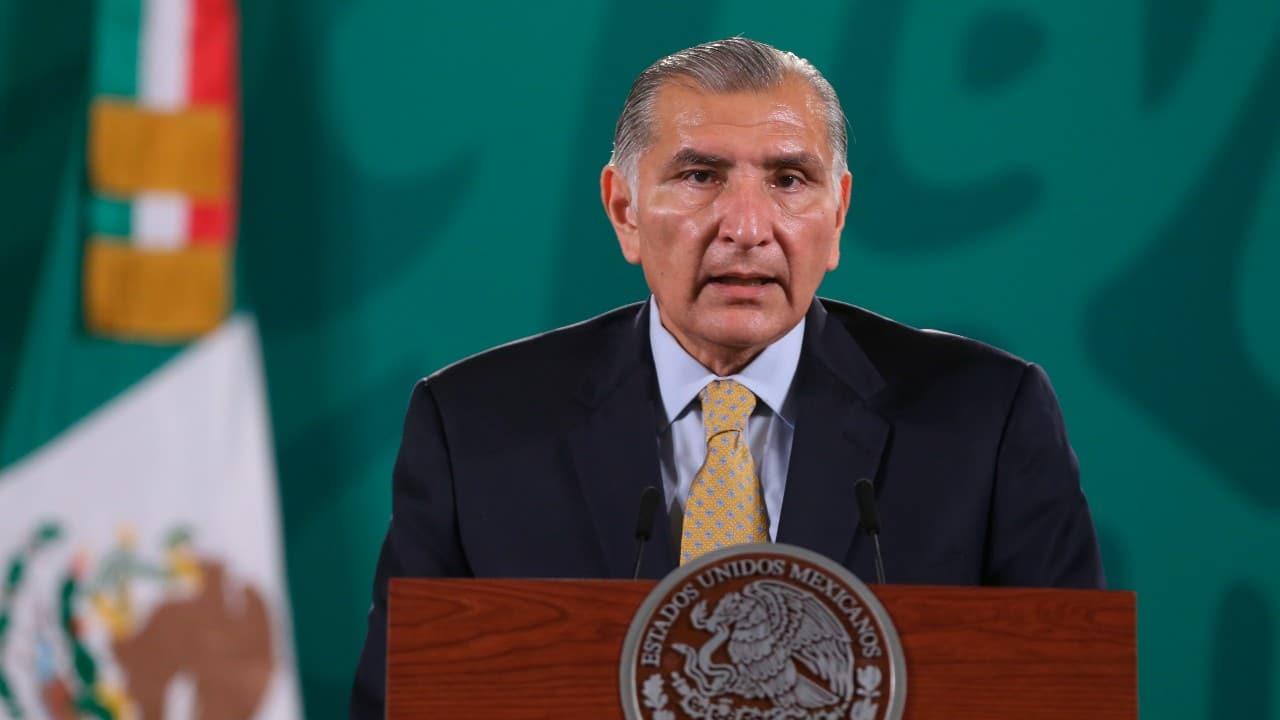 El secretario de Gobernación, Adán Augusto López