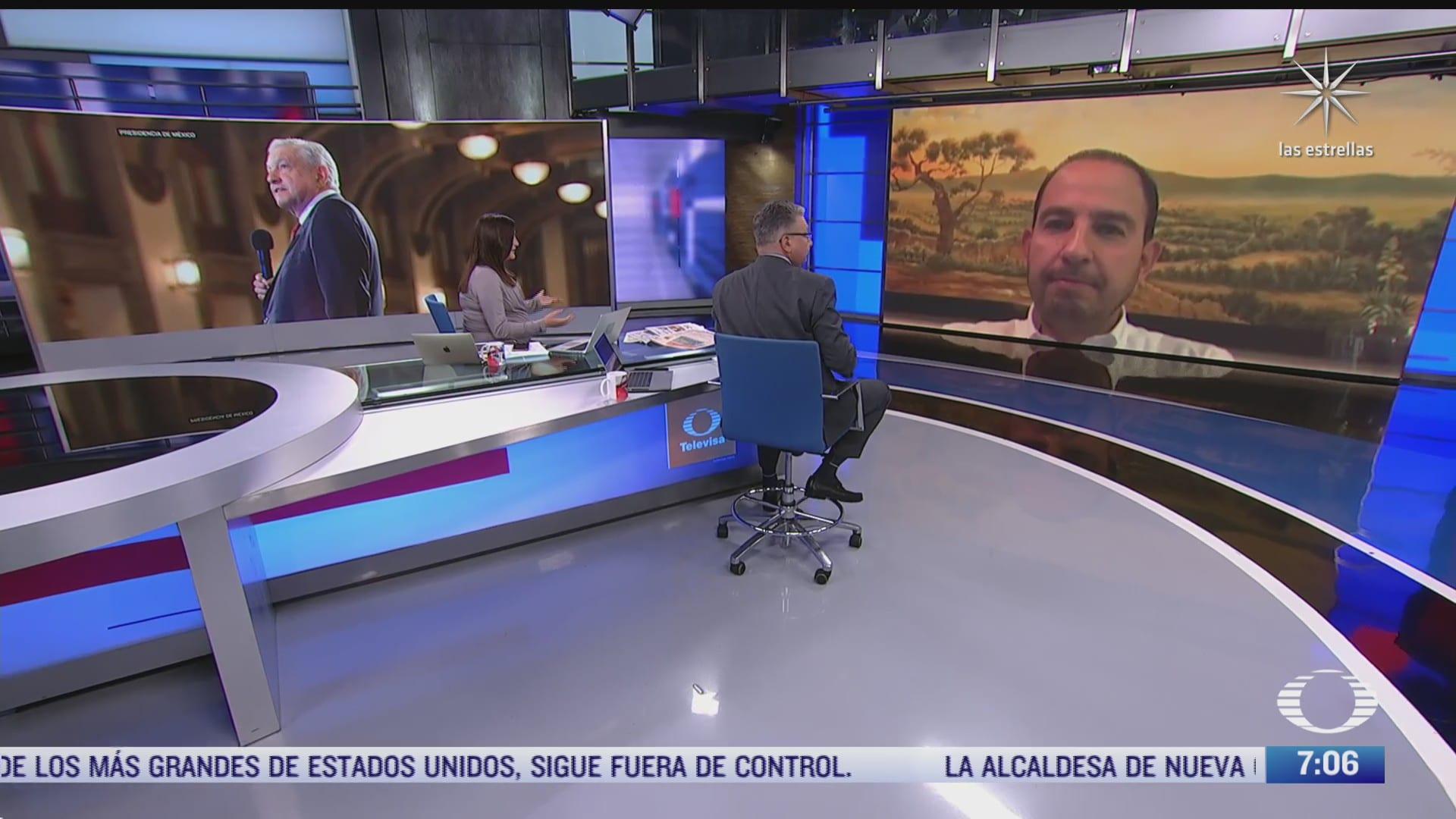 entrevista con marko cortes para despierta habla del tercer informe de gobierno de amlo