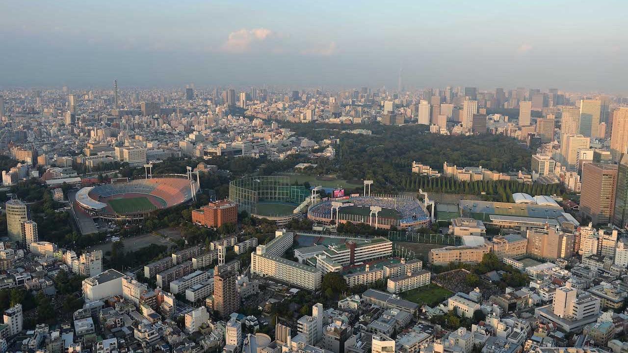 Vista aérea de inmobiliario deportivo en Japón (Getty Images)