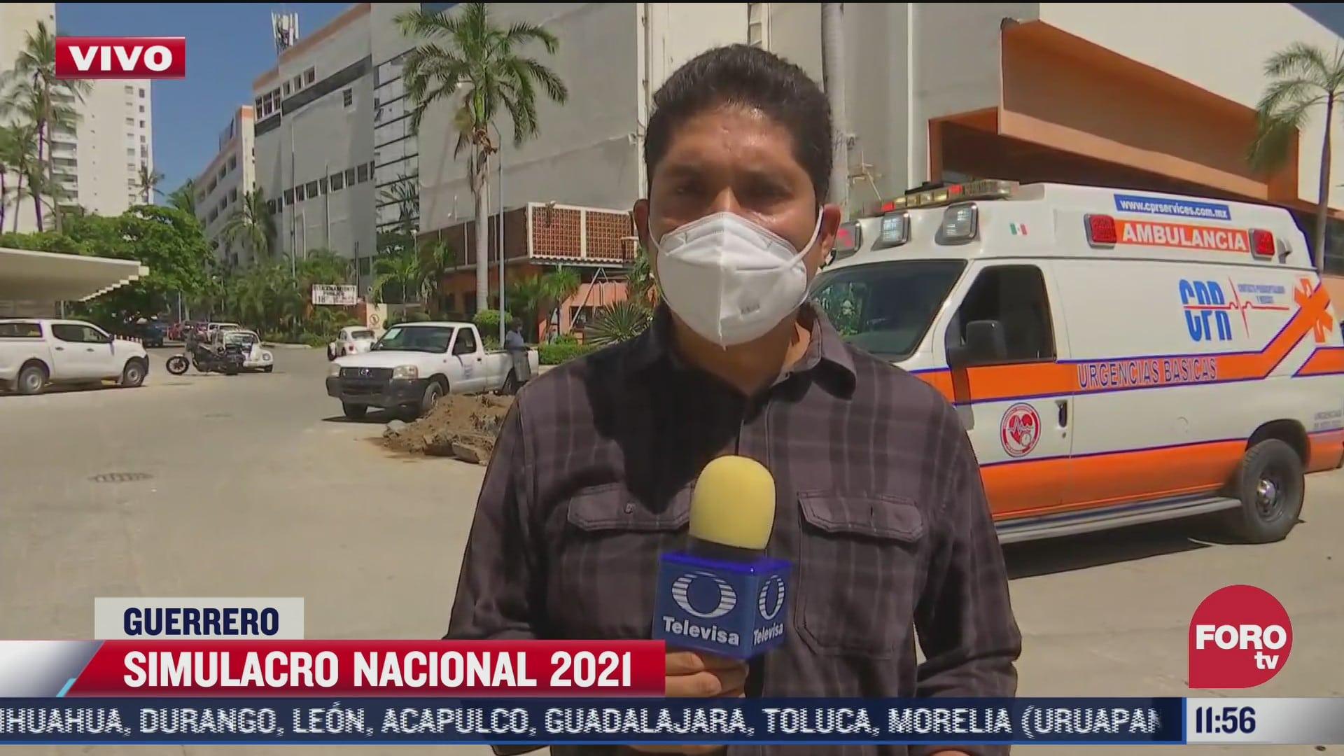evacuan hoteles de acapulco durante simulacro nacional