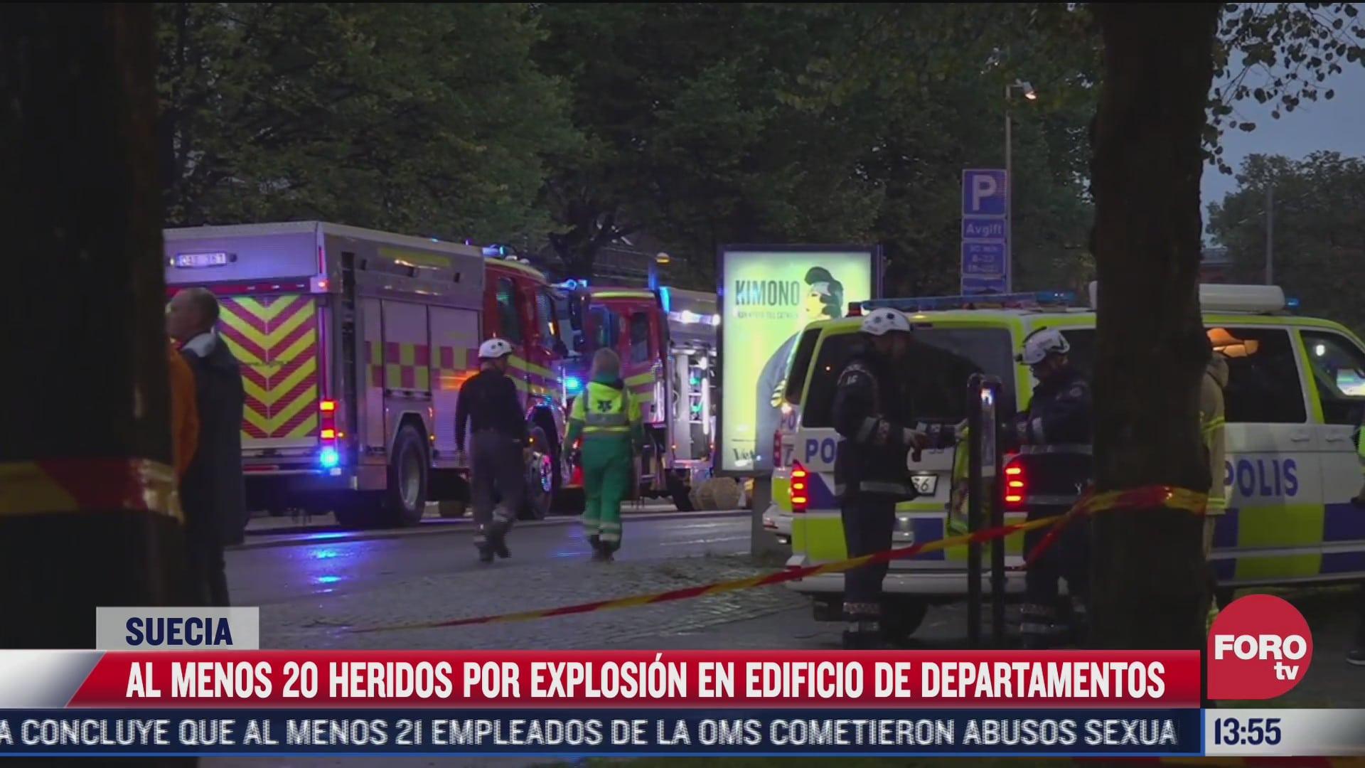 explosion en edificio en suecia deja 20 personas heridas