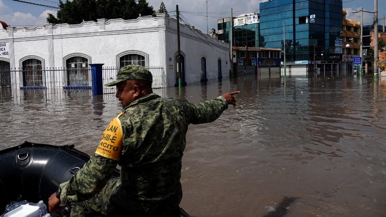 Se movilizan más de 900 elementos de la Sedena y Guardia Nacional para atender inundaciones en Hidalgo