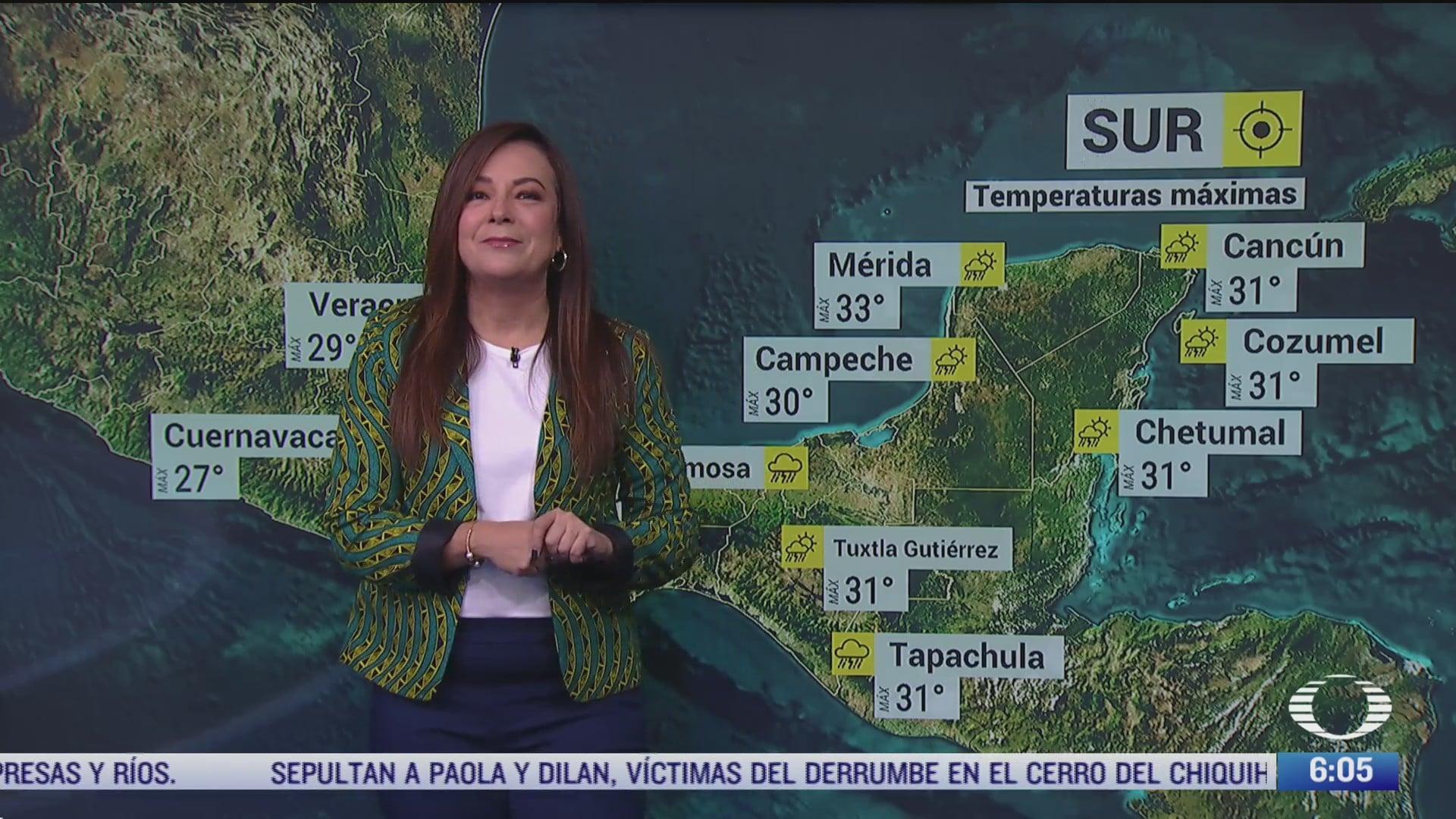 frente frio 1 provocara lluvias fuertes en sureste de mexico