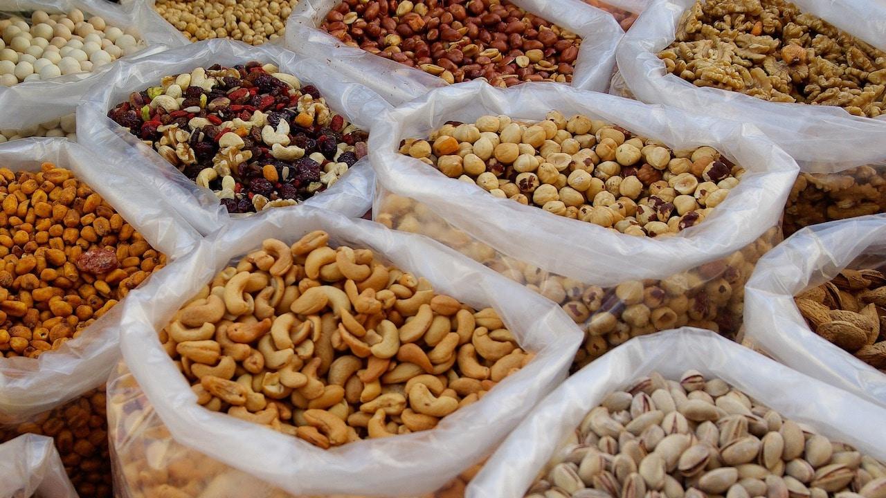Efectos peso frutos secos