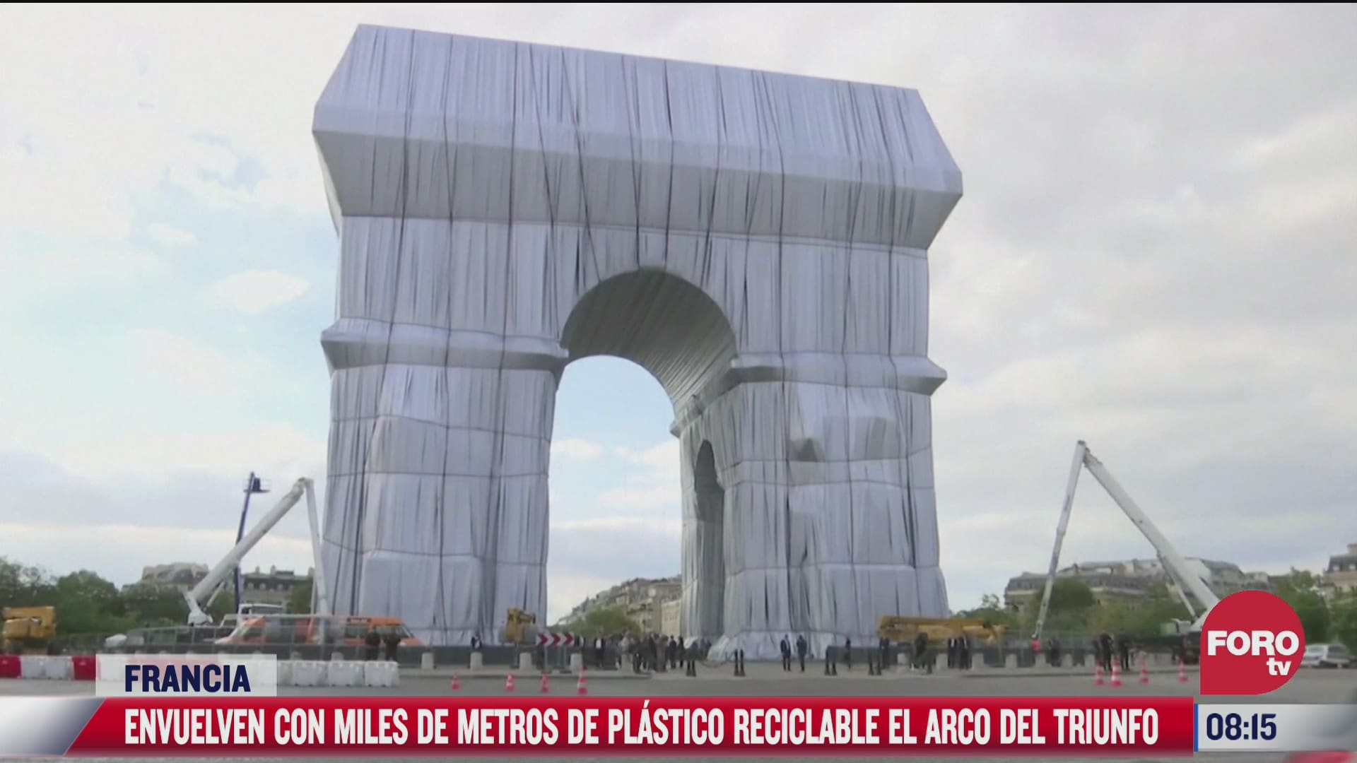 fue inaugurada la obra postuma en la que fue envuelta con plastico en francia