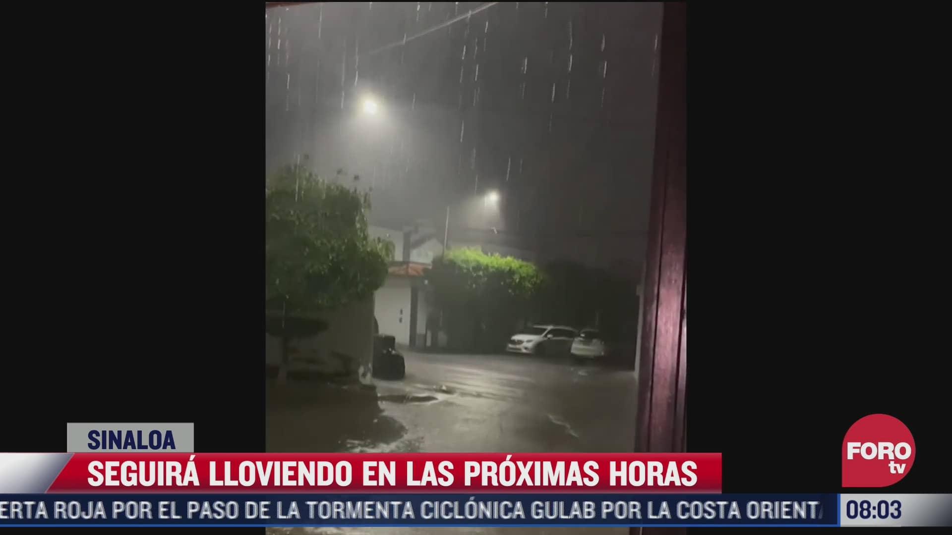 fuerte aguacero inunda las calles de culiacan sinaloa