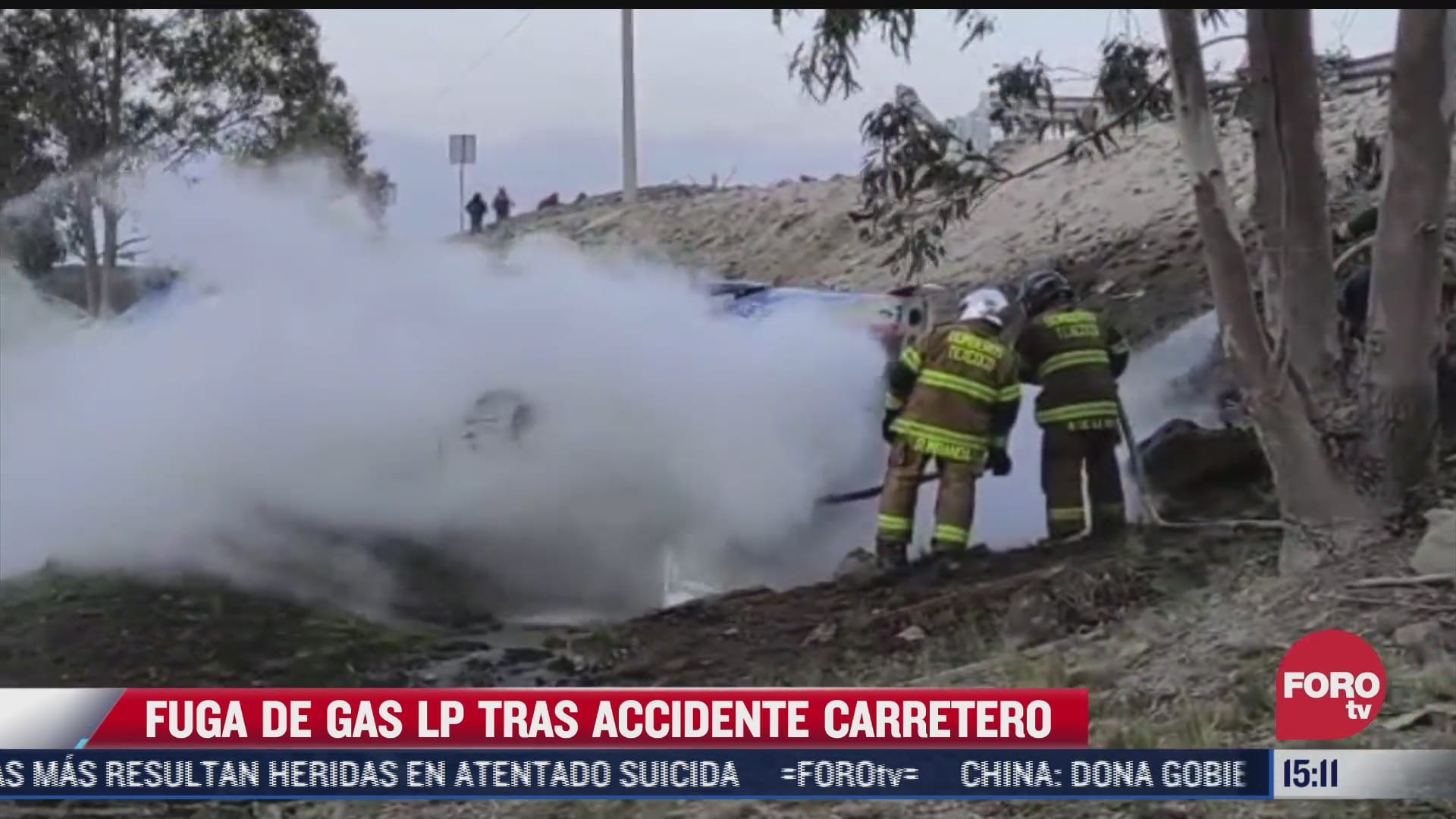 fuga de gas lp tras accidente en la mexico veracruz
