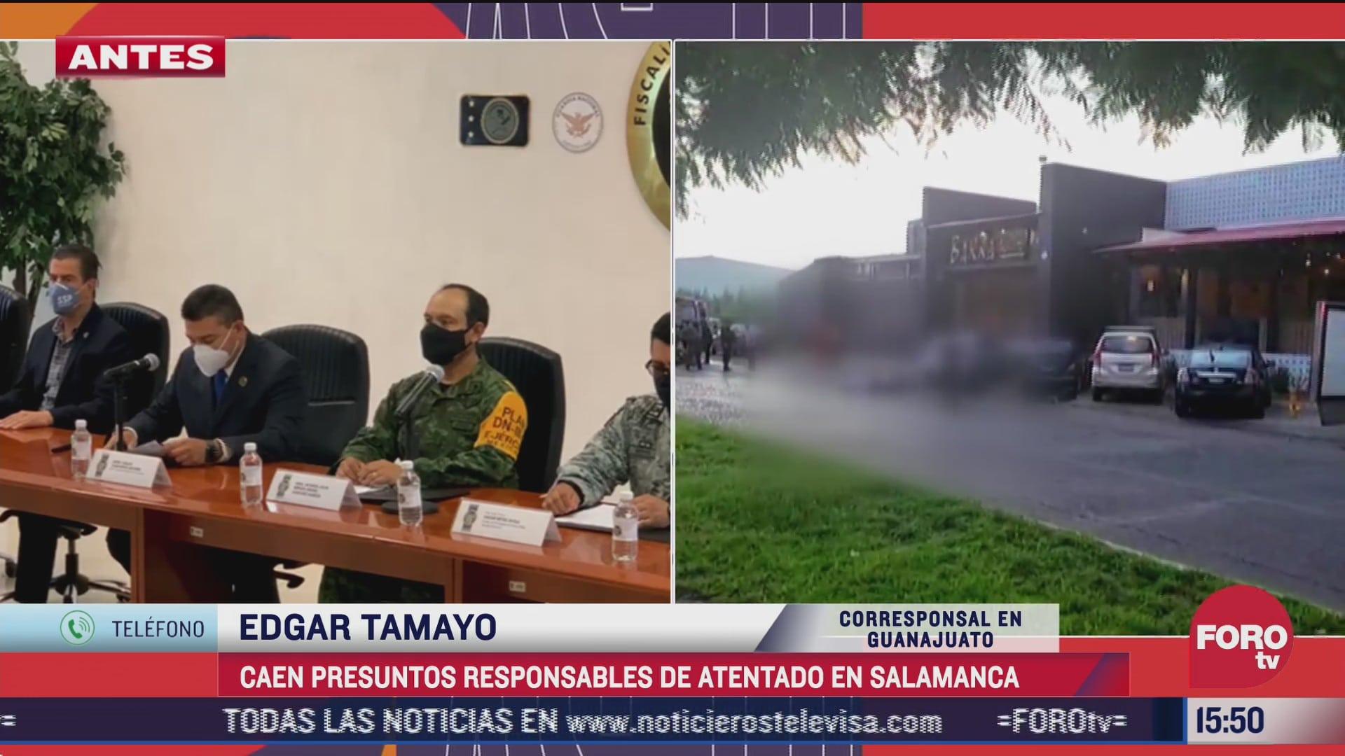 georgina n y eduardo n detenidos como posibles responsables de explosion de artefacto en salamanca guanajuato