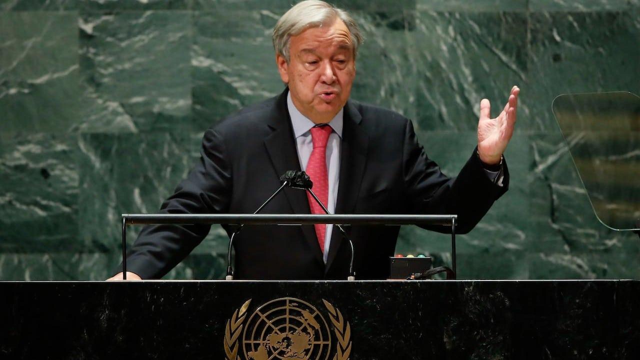 El secretario general de la ONU, Antonio Guterres, en la Asamblea General de la ONU en Nueva York (Getty Images)El secretario general de la ONU, Antonio Guterres, en la Asamblea General de la ONU en Nueva York (Getty Images)