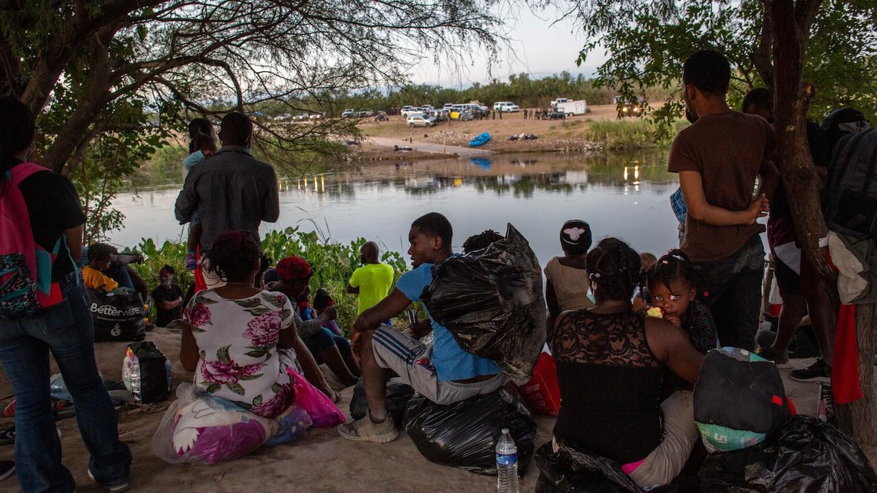 Grupo de migrantes de Haití (Getty Images)