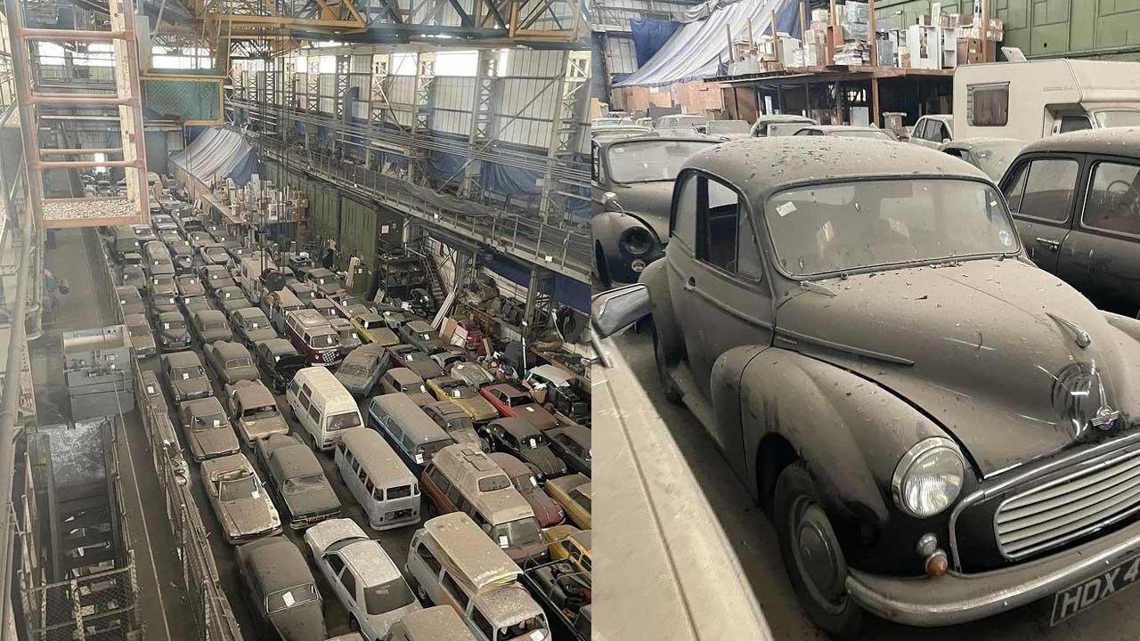 Hallan 175 autos de colección en una bodega abandonada