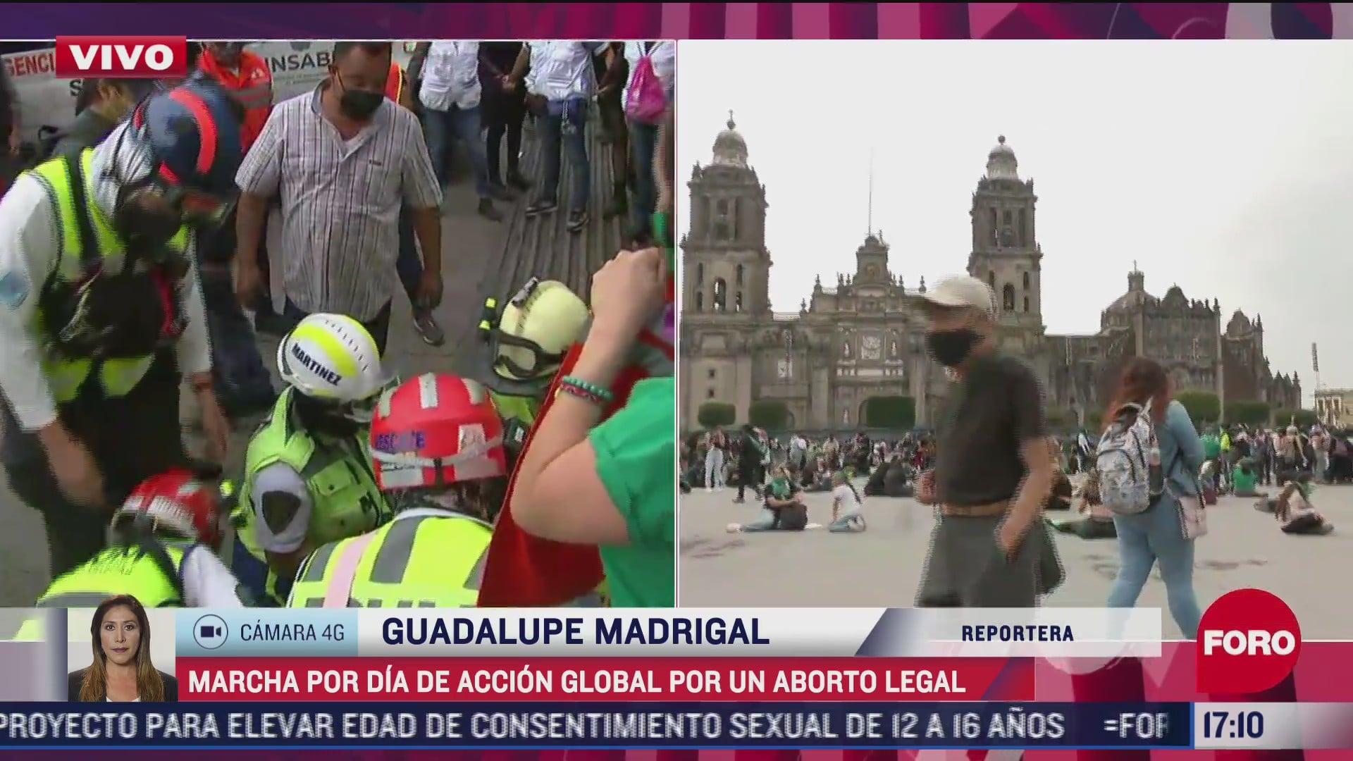 hombre resulta herido tras manifestacion de feministas en la ciudad de mexico
