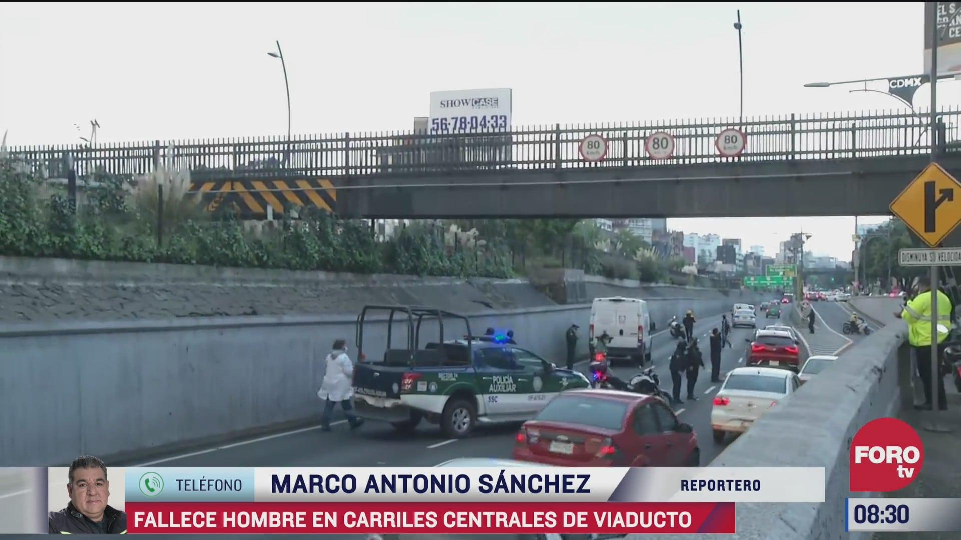 hombre se arroja desde puente peatonal en el viaducto cdmx