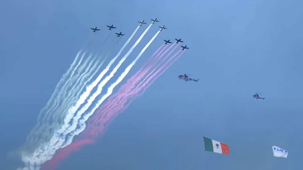 Inauguración de la Feria Aeroespacial