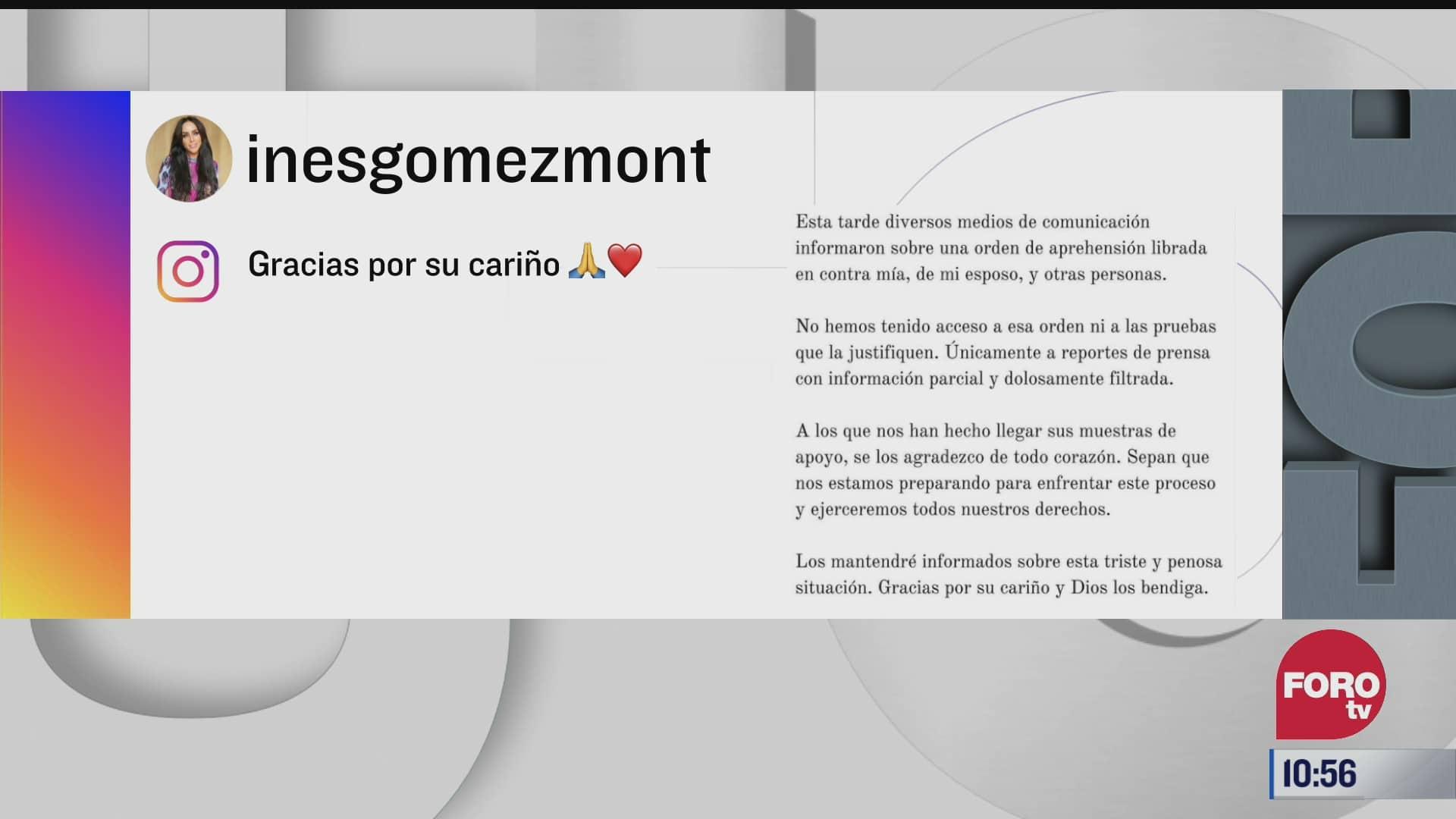ines gomez mont se prepara para proceso legal