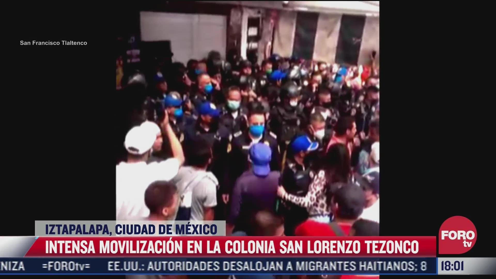 intensa movilizacion policiaca tras intento de asalto en iztapalapa