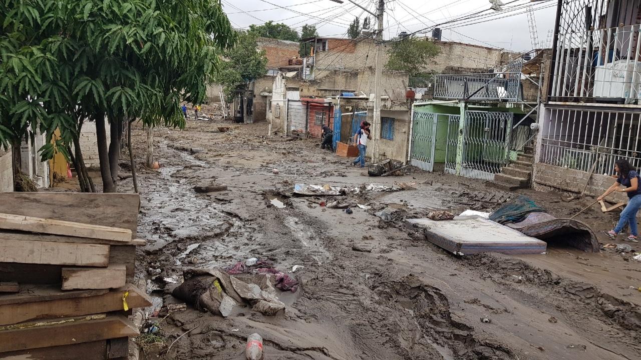 La fuerte lluvia volvió a causar afectaciones en Zapopan, Jalisco