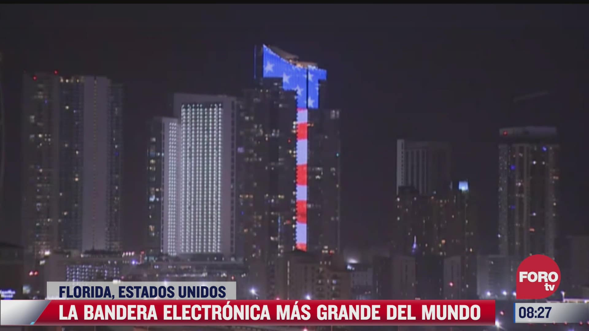 la bandera electronica de eeuu mas grande del mundo ilumina miami
