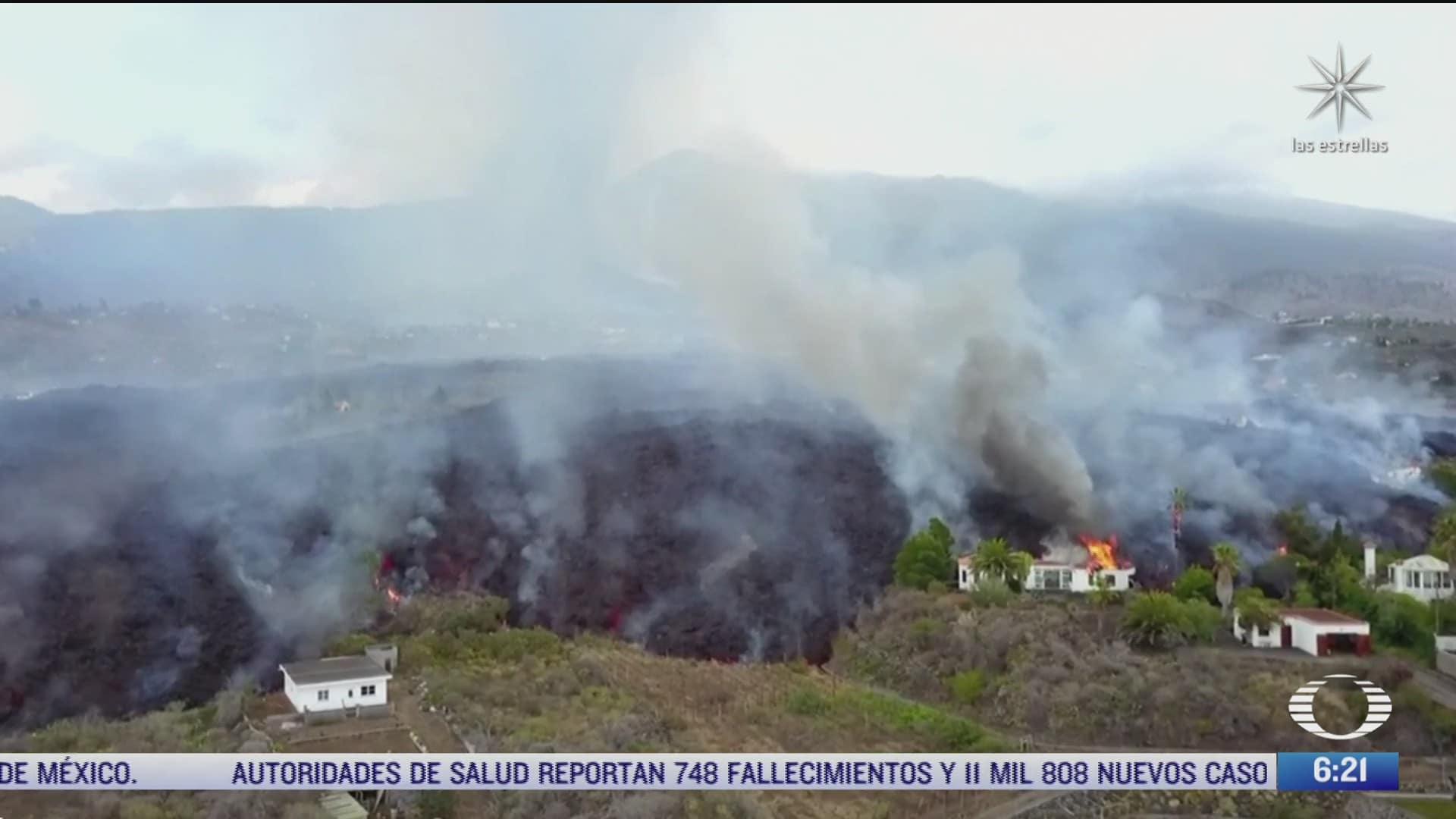 lava del volcan cumbre vieja crece 12 metros de altura