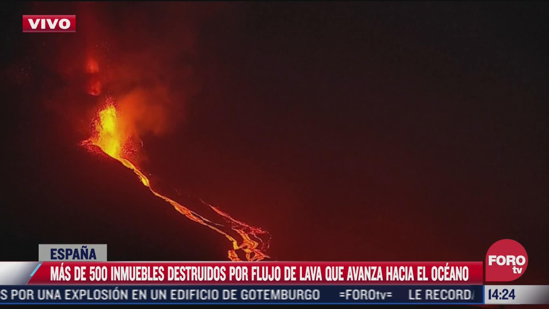 lava del volcan cumbre vieja ha destruido mas de 500 casas