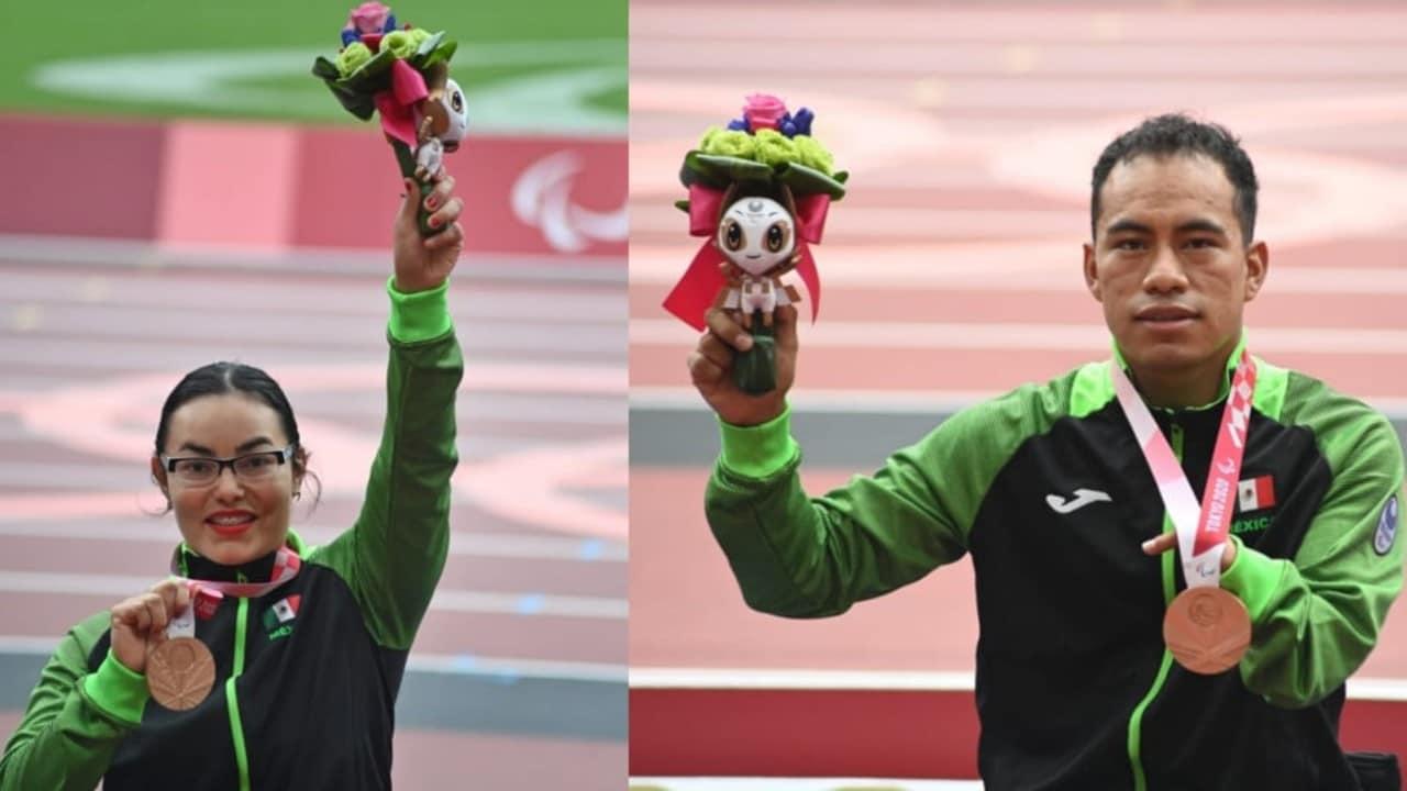 Leonardo de Jesús Pérez y Rebeca Valenzuela ganan medallas de bronce en Paralímpicos de Tokyo 2020