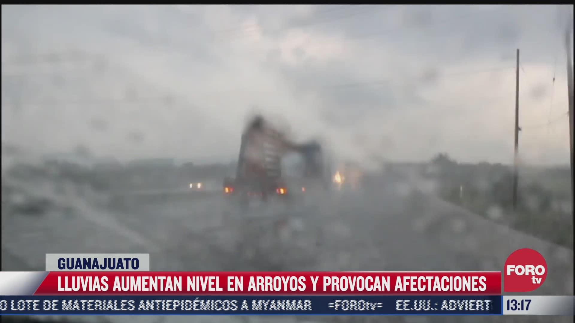 lluvias provocan afectaciones en guanajuato
