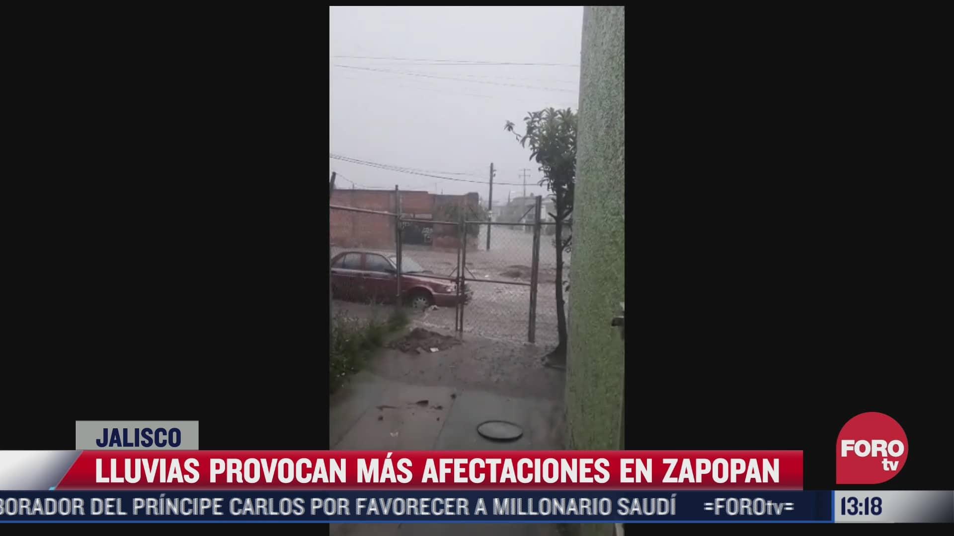 lluvias provocan mas afectaciones en zapopan jalisco