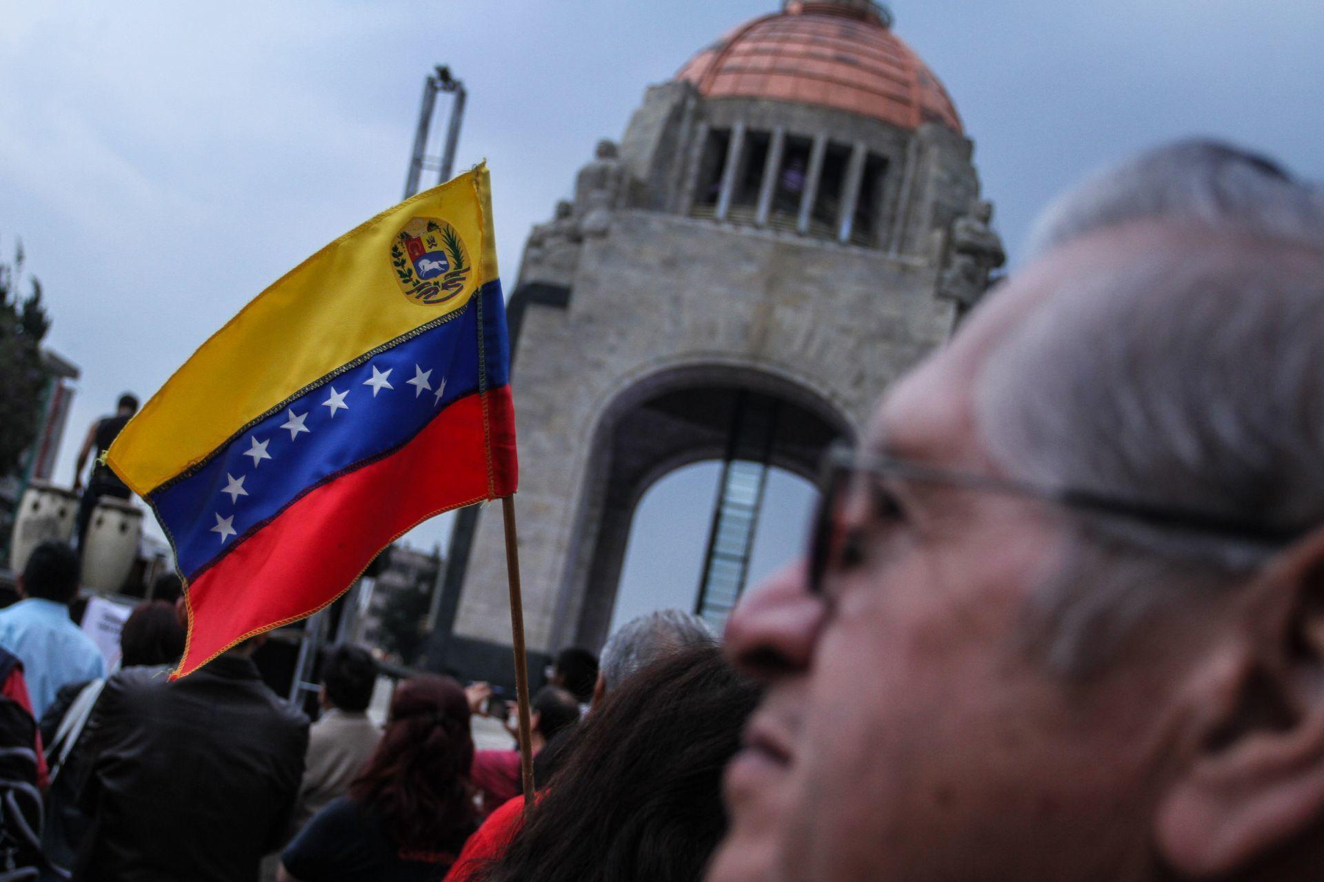 Movilización de simpatizantes del gobierno venezolano de Nicolás Maduro en la CDMX (Cuartocuro)
