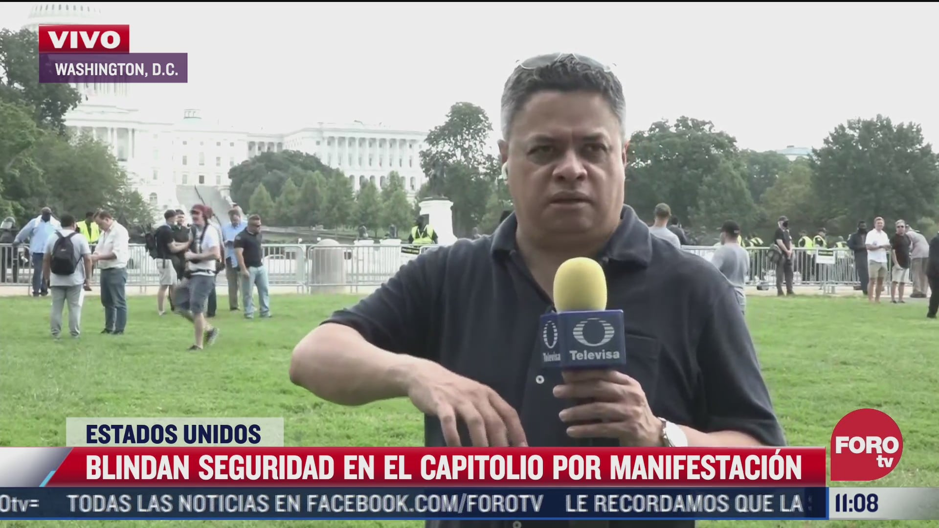 manifestacion en apoyo a acusados por asalto en capitolio