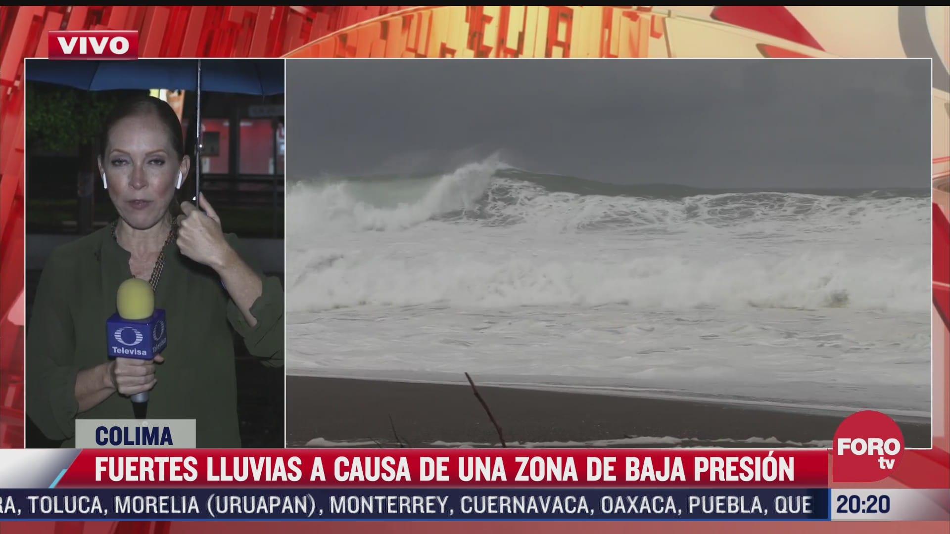 mar de fondo y zona de baja presion afectan colima