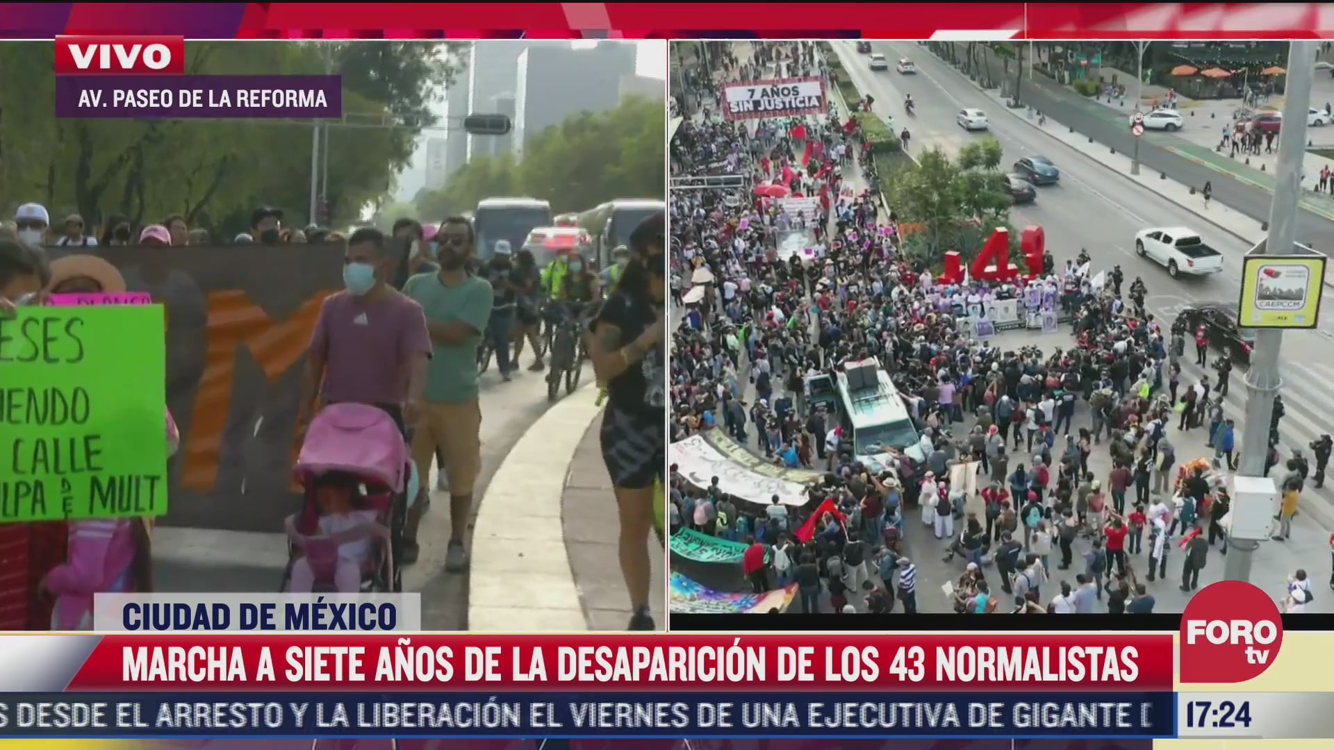 marchan por septimo aniversario del caso ayotzinapa