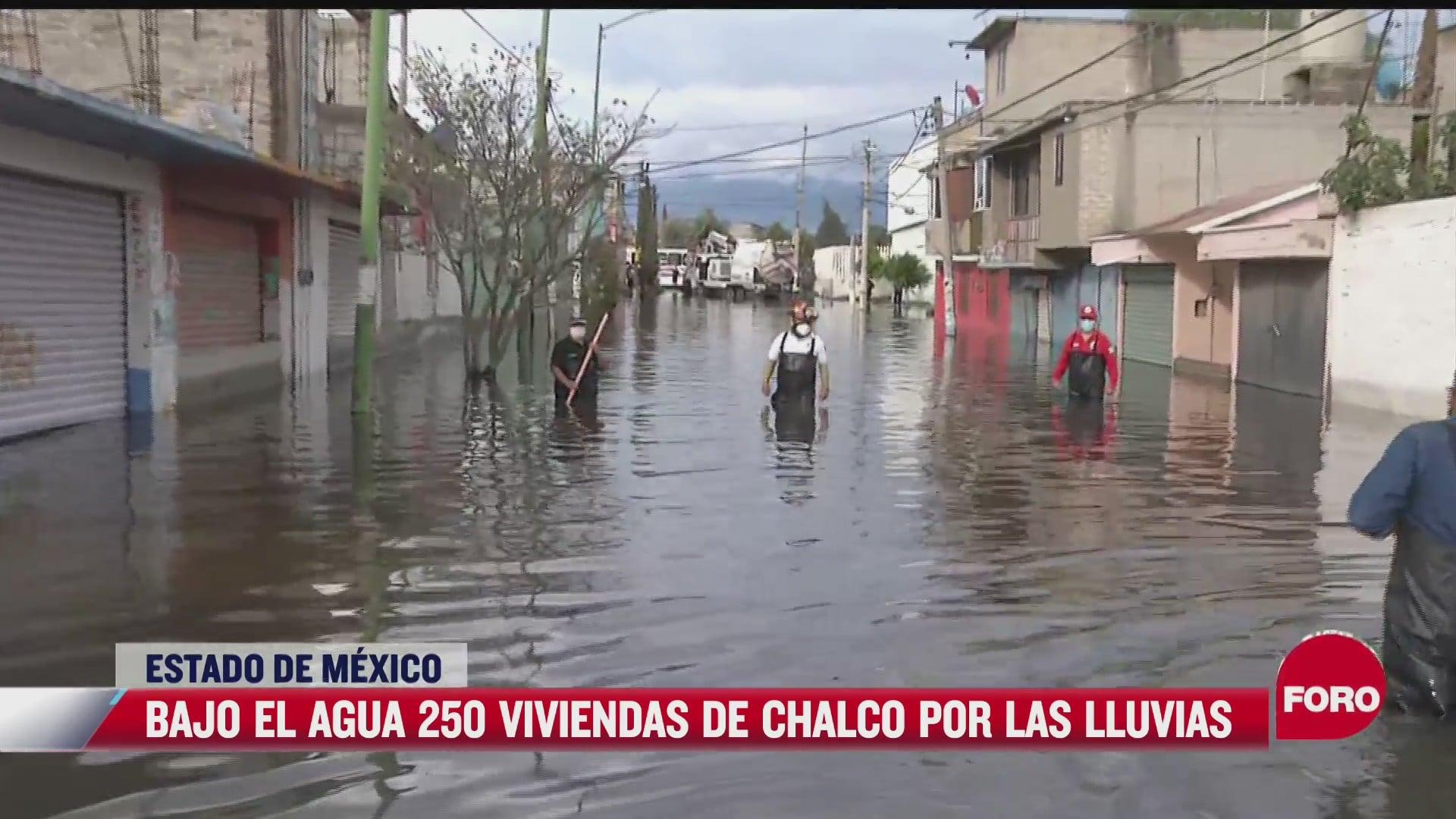 mas de 250 viviendas resultan afectadas por las inundaciones en chalco