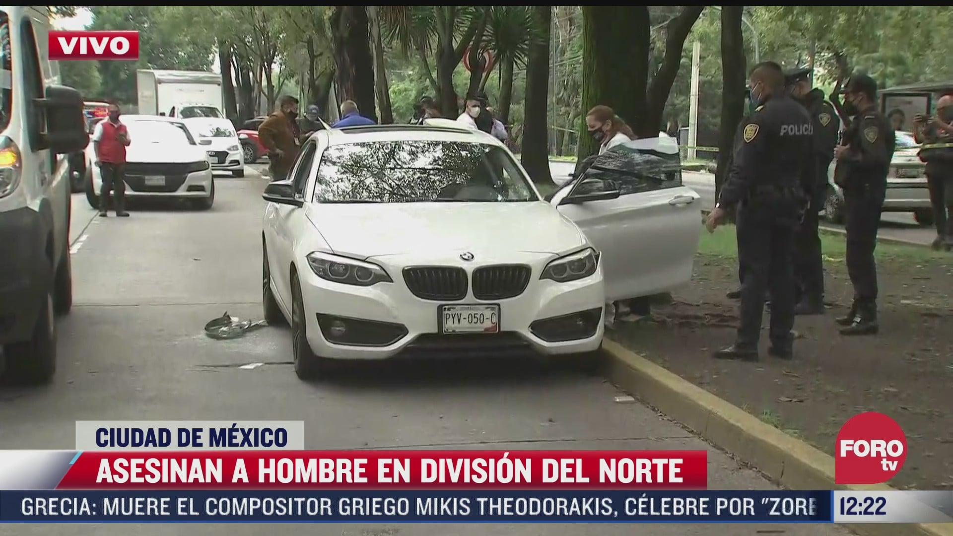 matan a tiros a un hombre en avenida division del norte alcaldia coyoacan cdmx