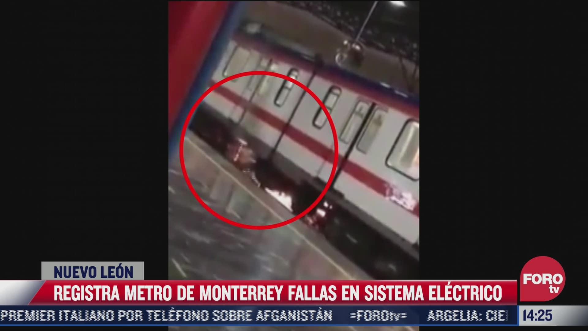 metro de monterrey presenta fallas