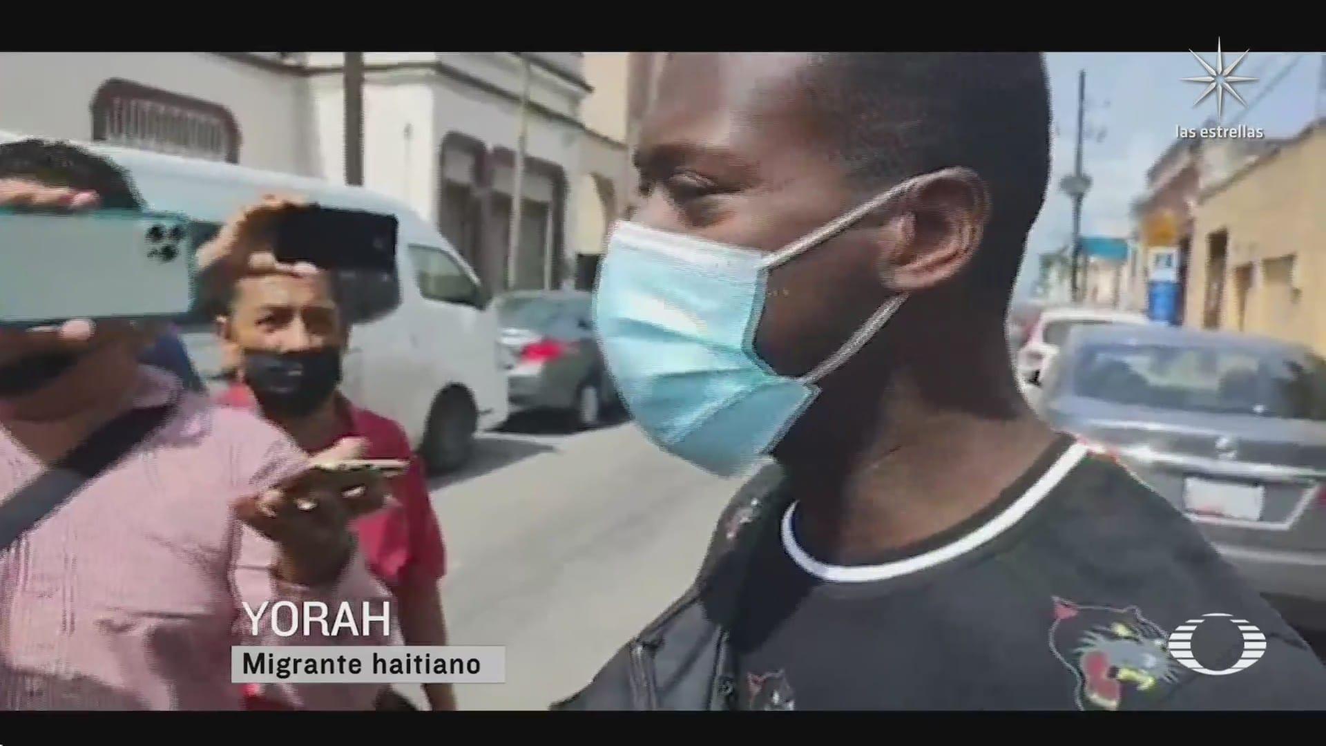 migrantes haitianos protestan en tampico tamaulipas