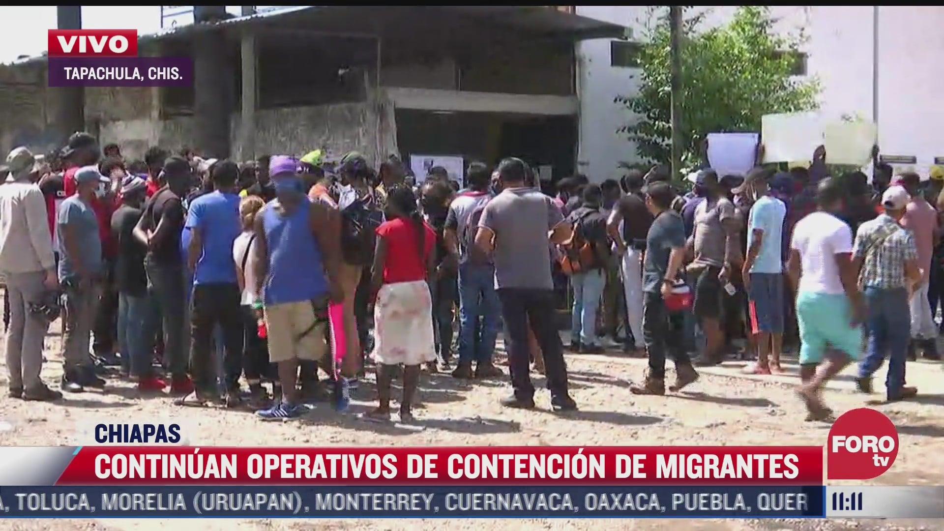 migrantes haitianos protestan para agilizar tramites de refugiados en chiapas