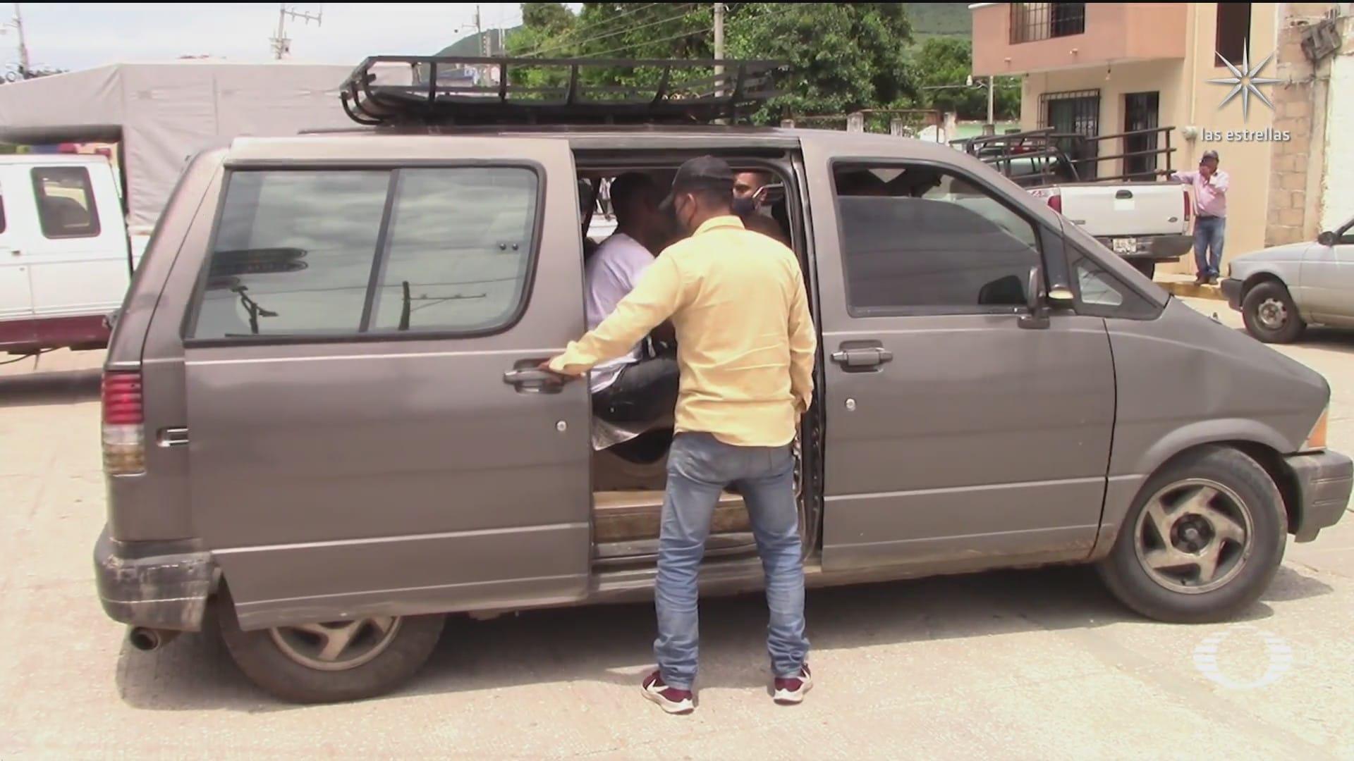 migrantes salen en transportes de tapachula chiapas rumbo al norte