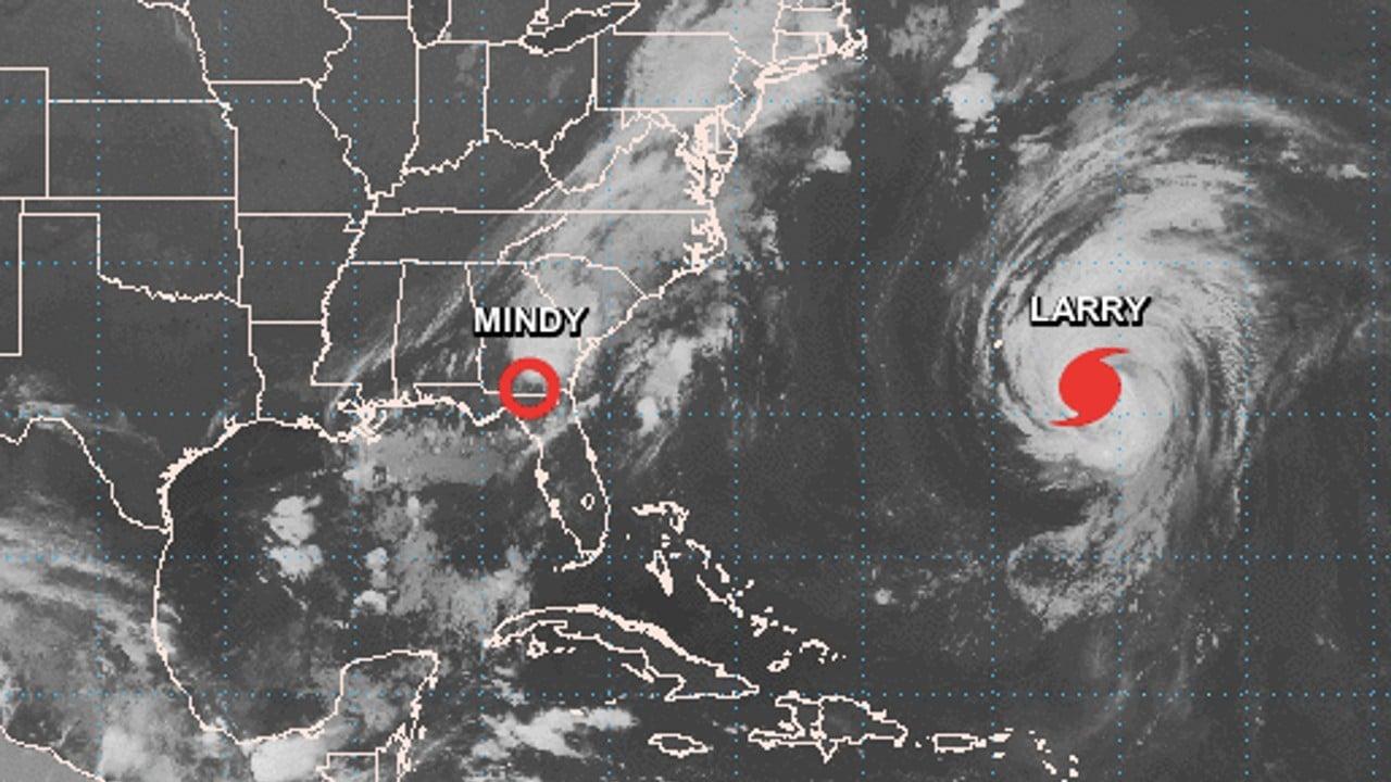 Mindy se debilita a depresión tropical sobre Georgia