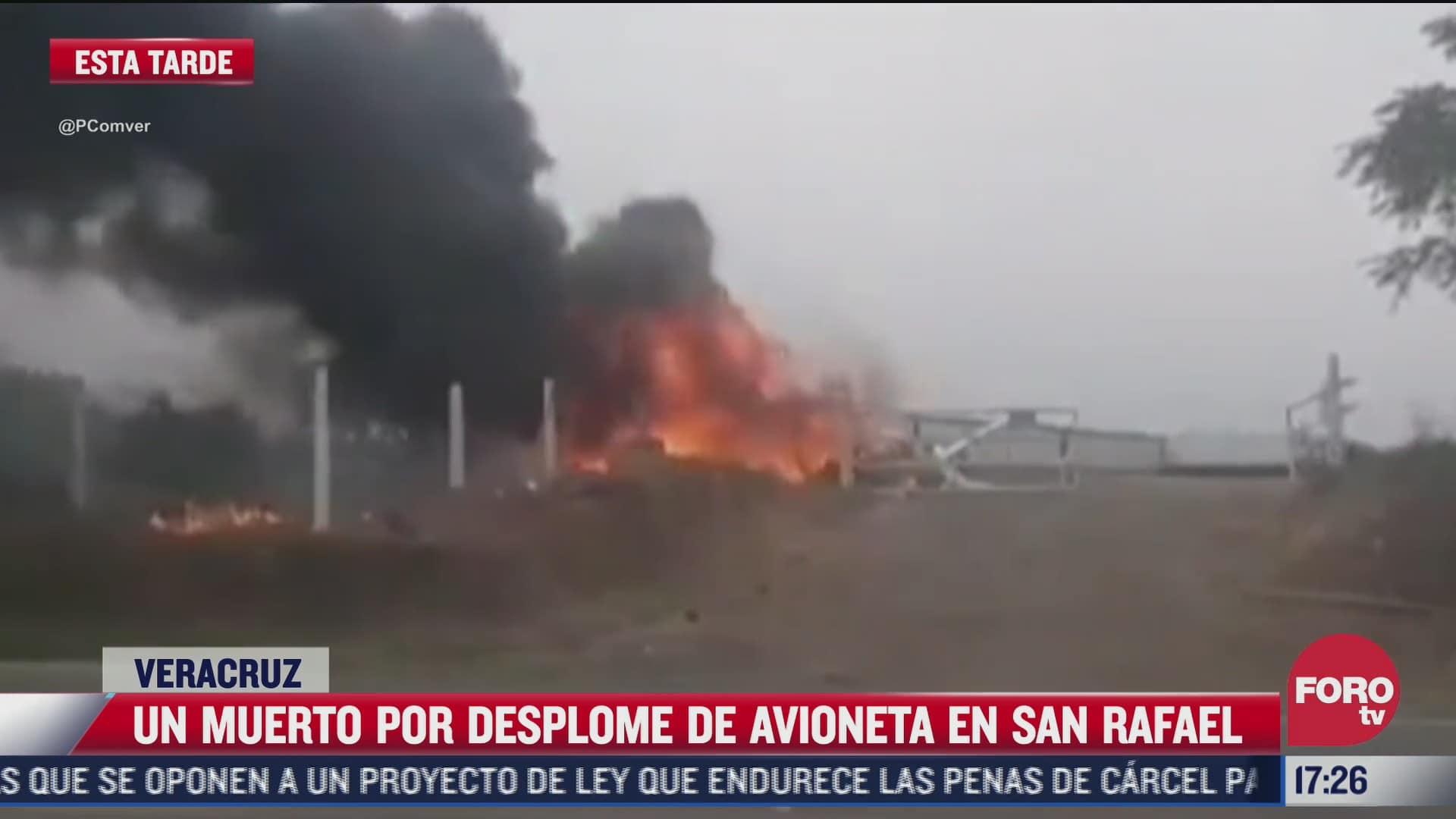 muere piloto tras desplome de avioneta en veracruz