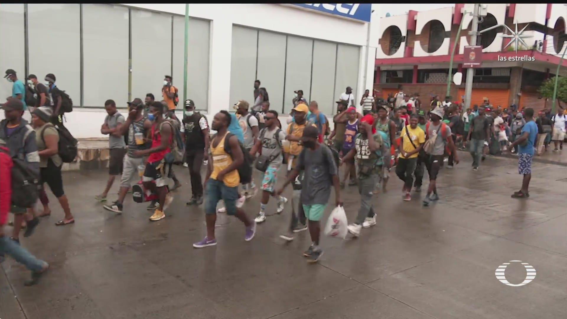 nuevo contingente de migrantes parte de tapachula