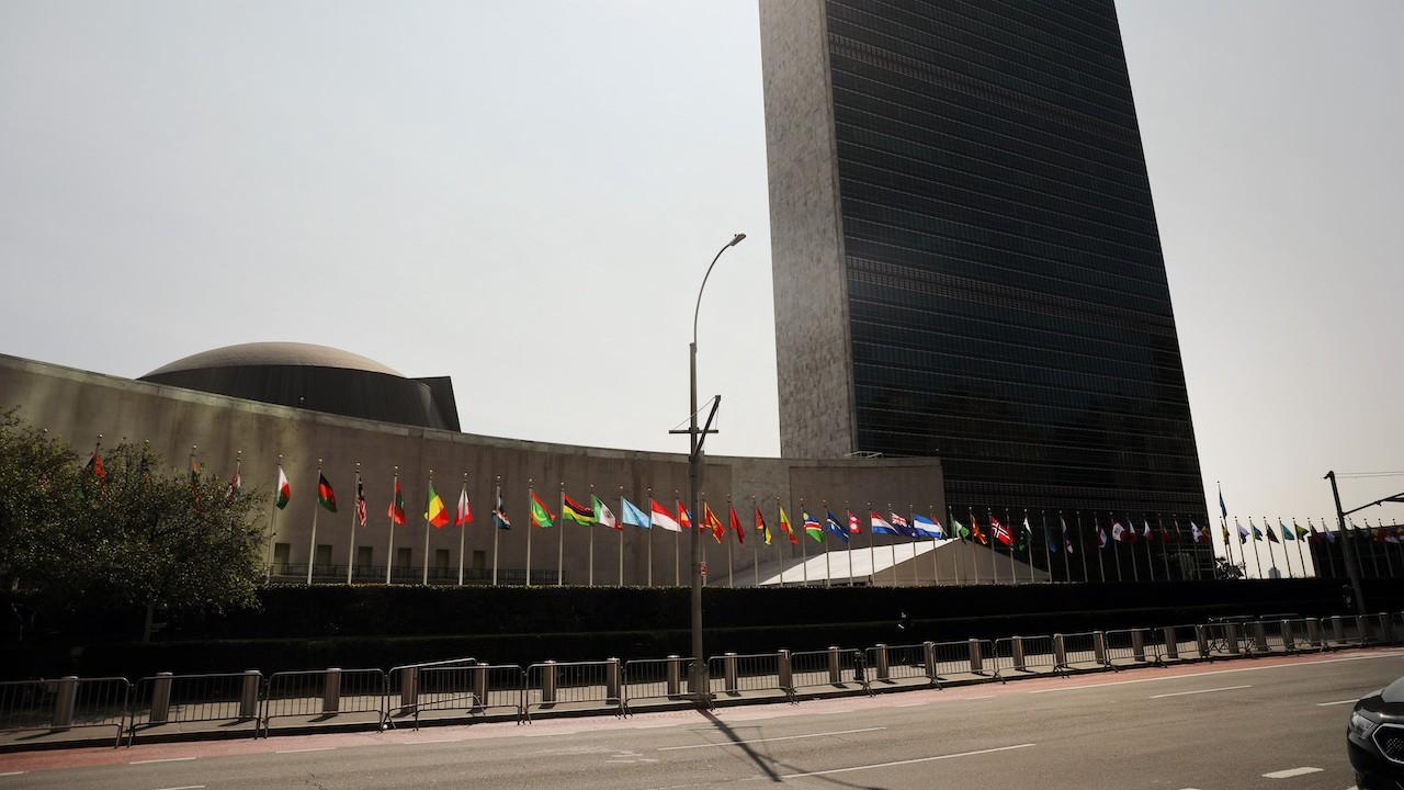 El edificio de las Naciones Unidas se ve en Manhattan (Getty Images)